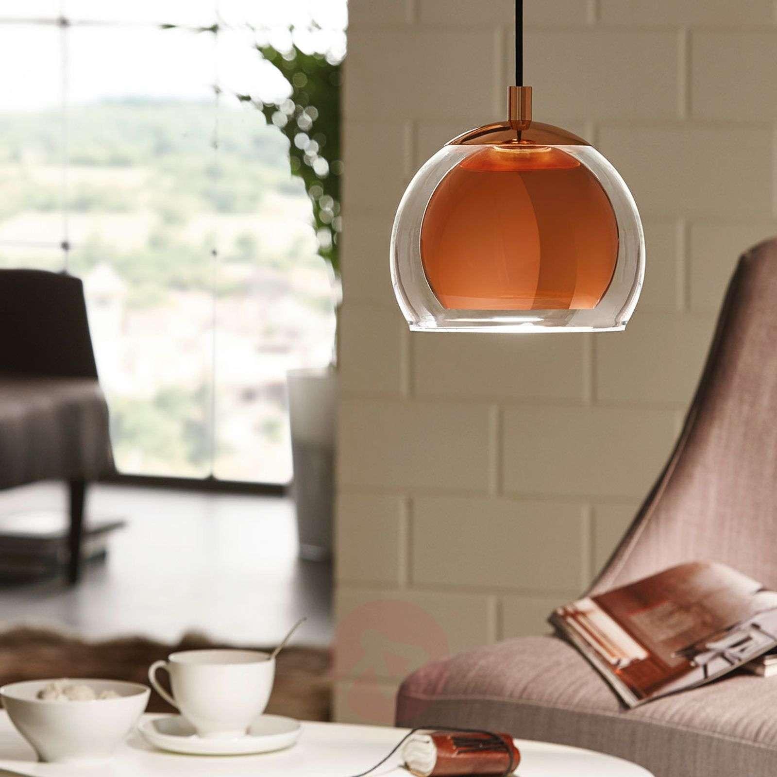Copper-coloured Rocamar hanging light-3031750-01