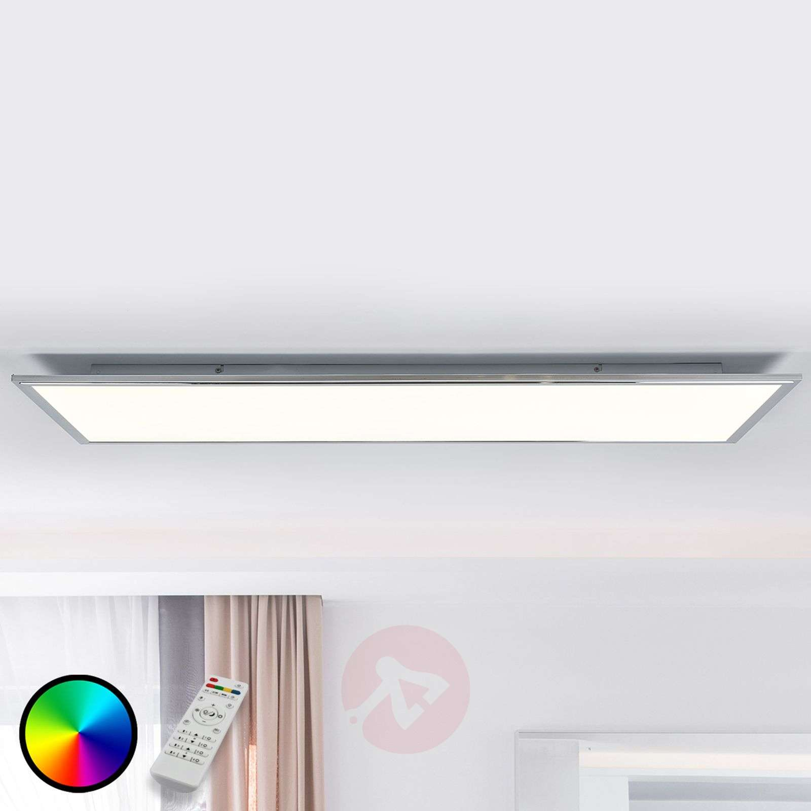 Corinna CCT LED panel, RGB, remote 120 x 40 cm-1558123-02