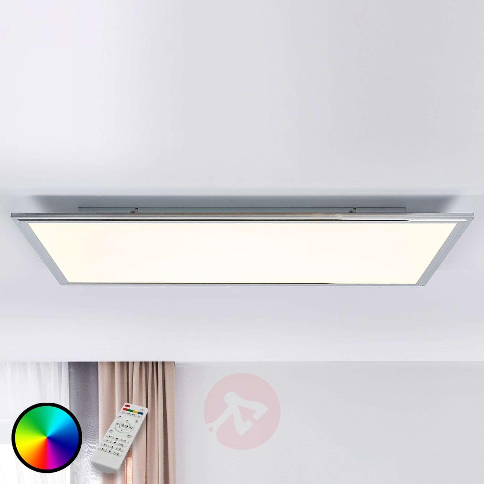 Corinna CCT LED panel, RGB, remote 80 x 40 cm-1558125-02