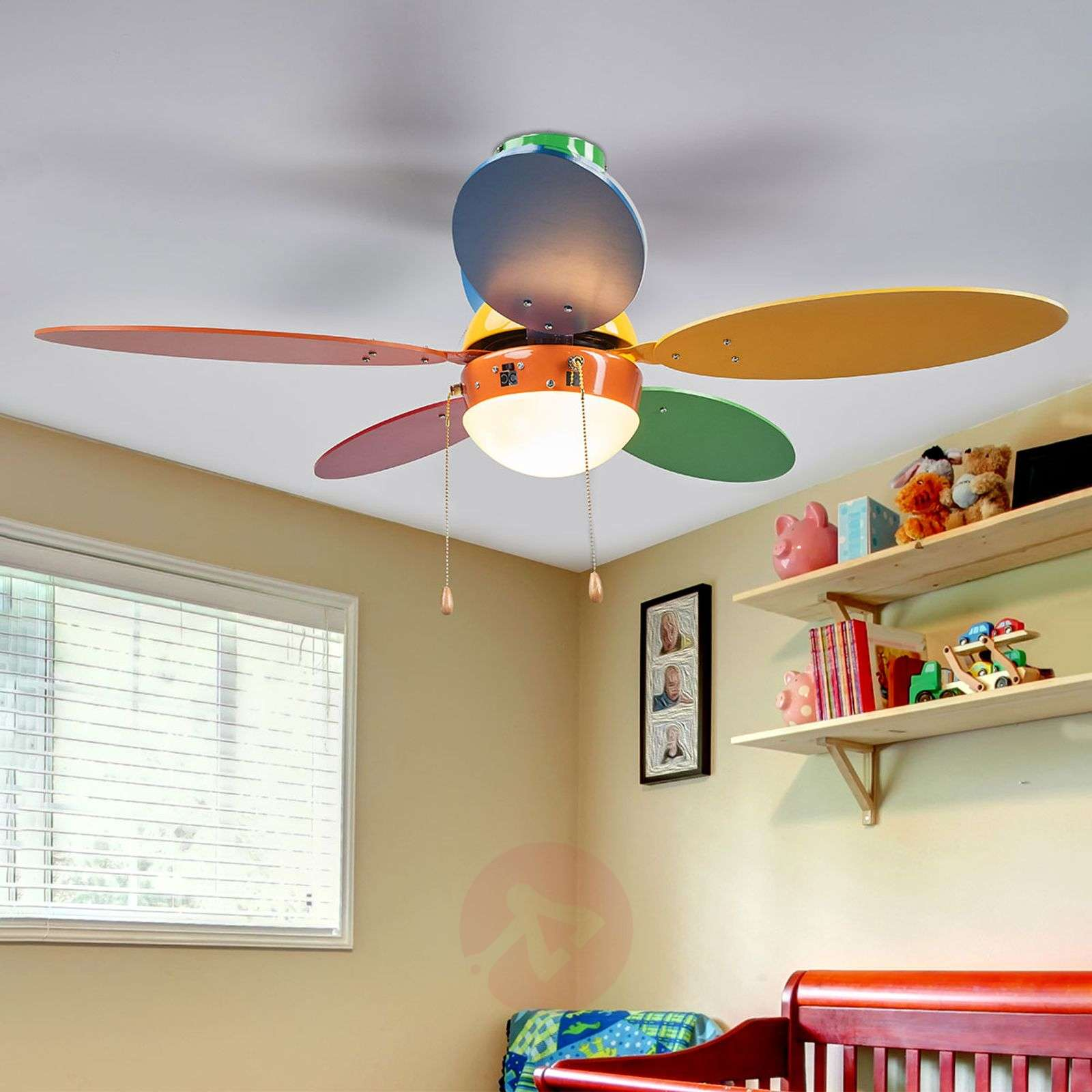 Corinna colourful ceiling fan with light-4018100-012