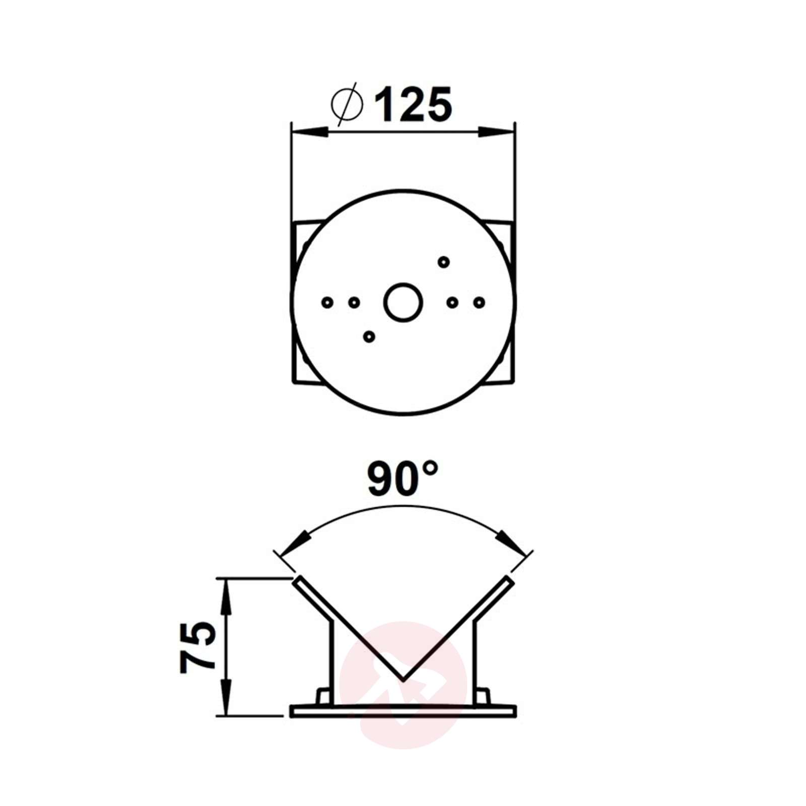 Corner mount for outdoor wall lights, round, alu-4000285-01