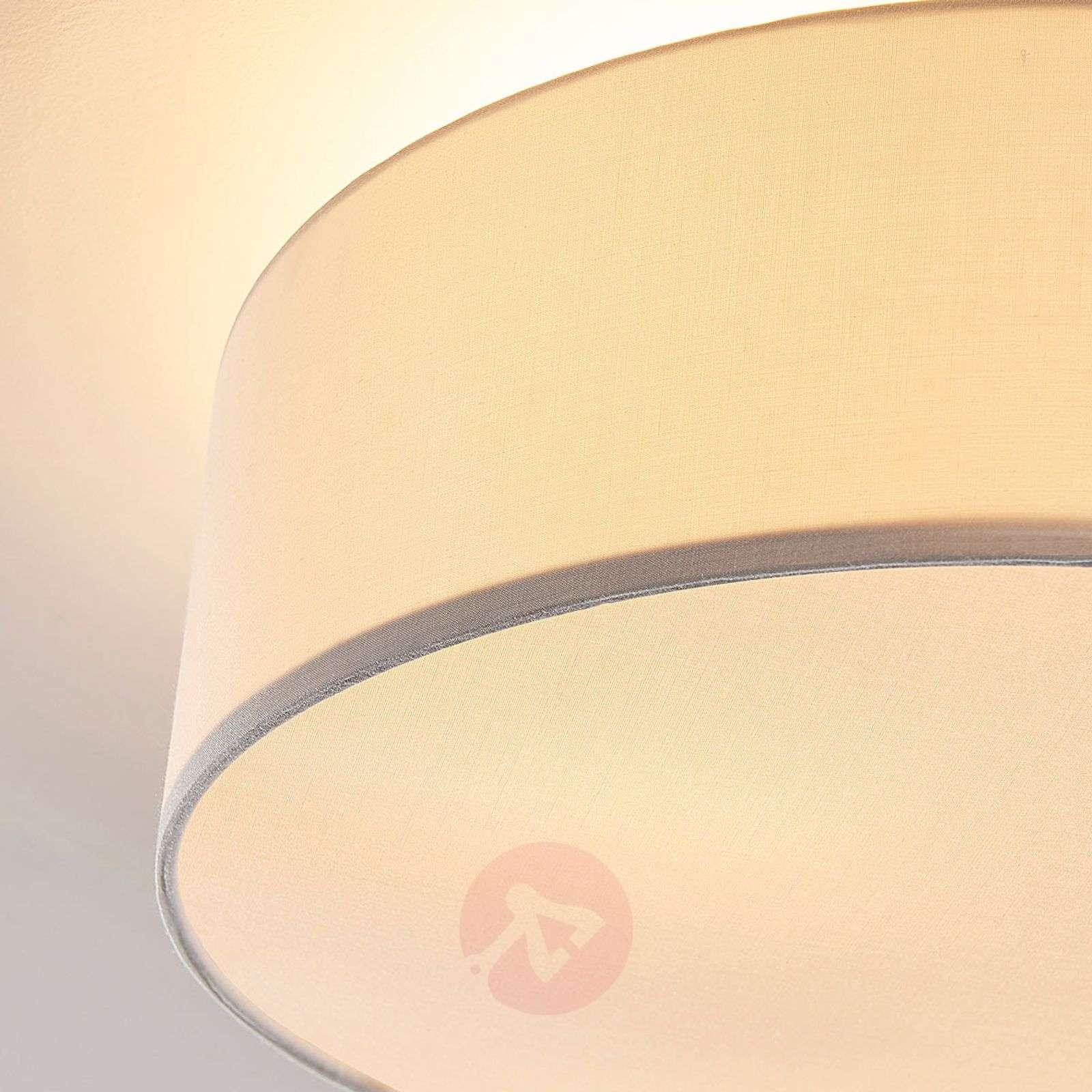 Cream-coloured fabric ceiling light Sebatin-9620332-02