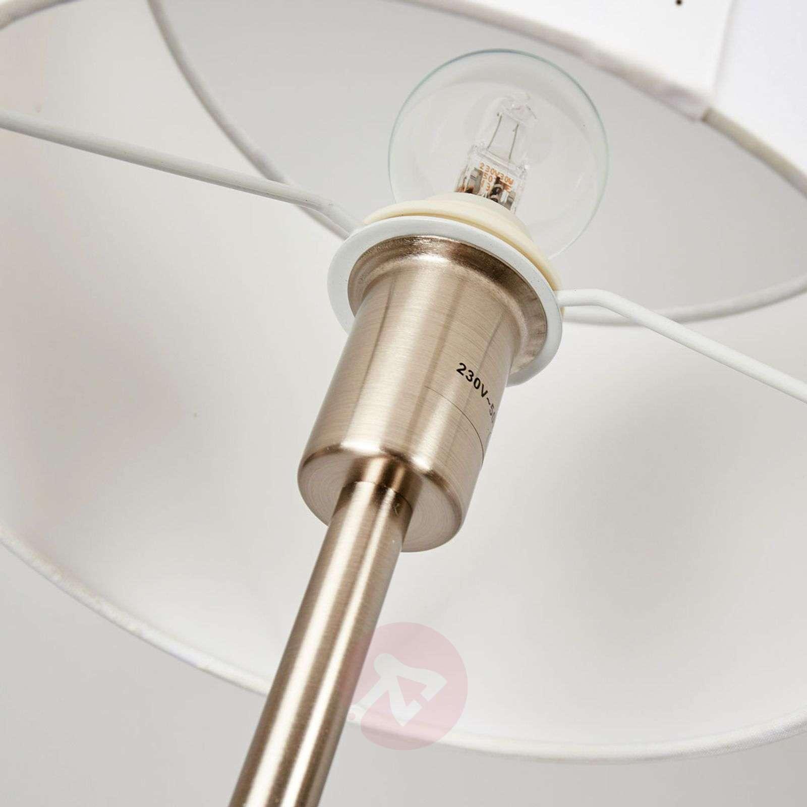 Cream-coloured fabric lampshade table lamp Risa-9004560-01