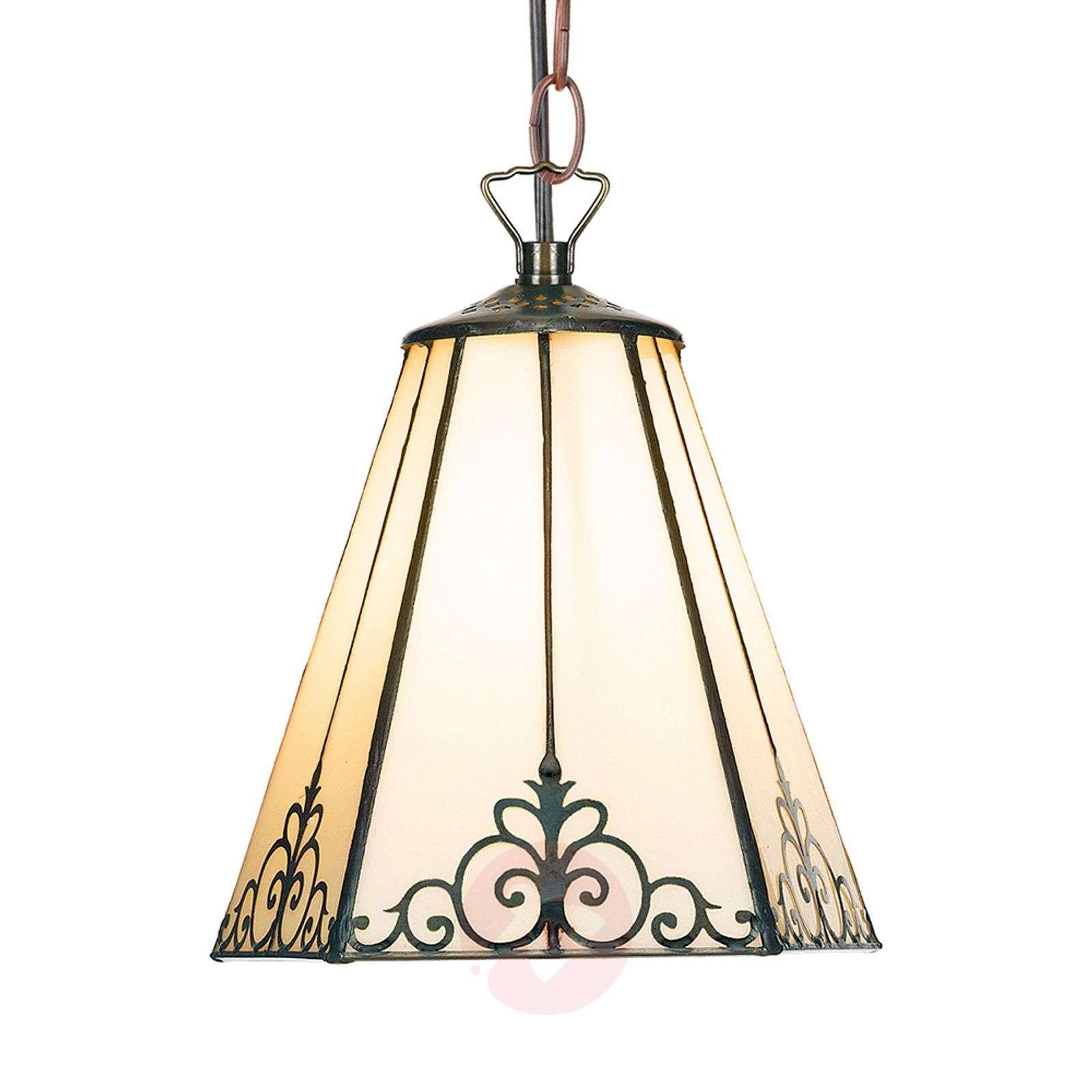 Cream-coloured hanging light Janett, 19 cm-1032309-02