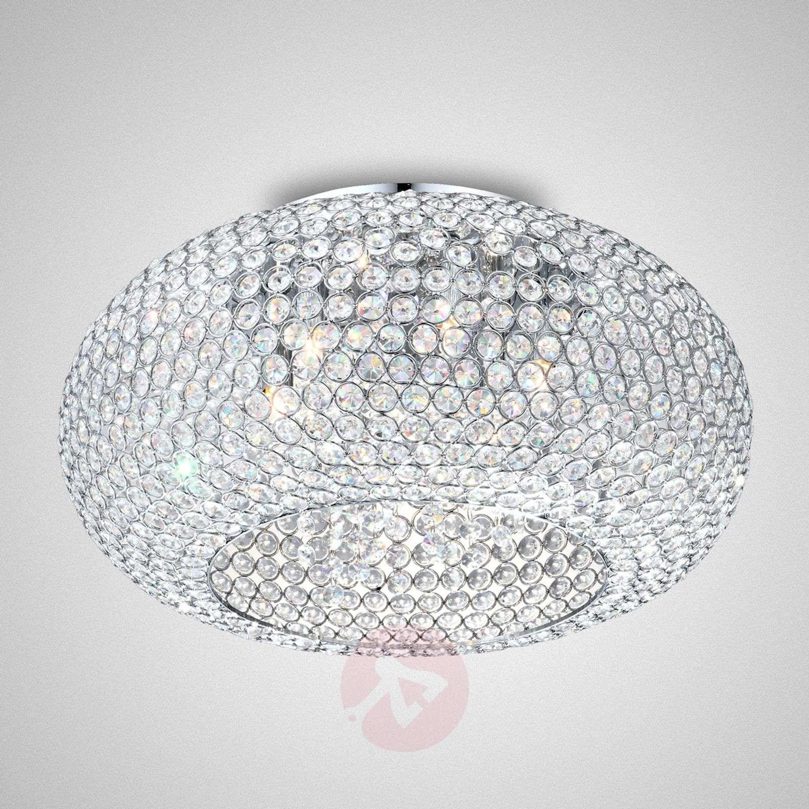 inina diyas ceilings chrome light l crystal ceiling lights