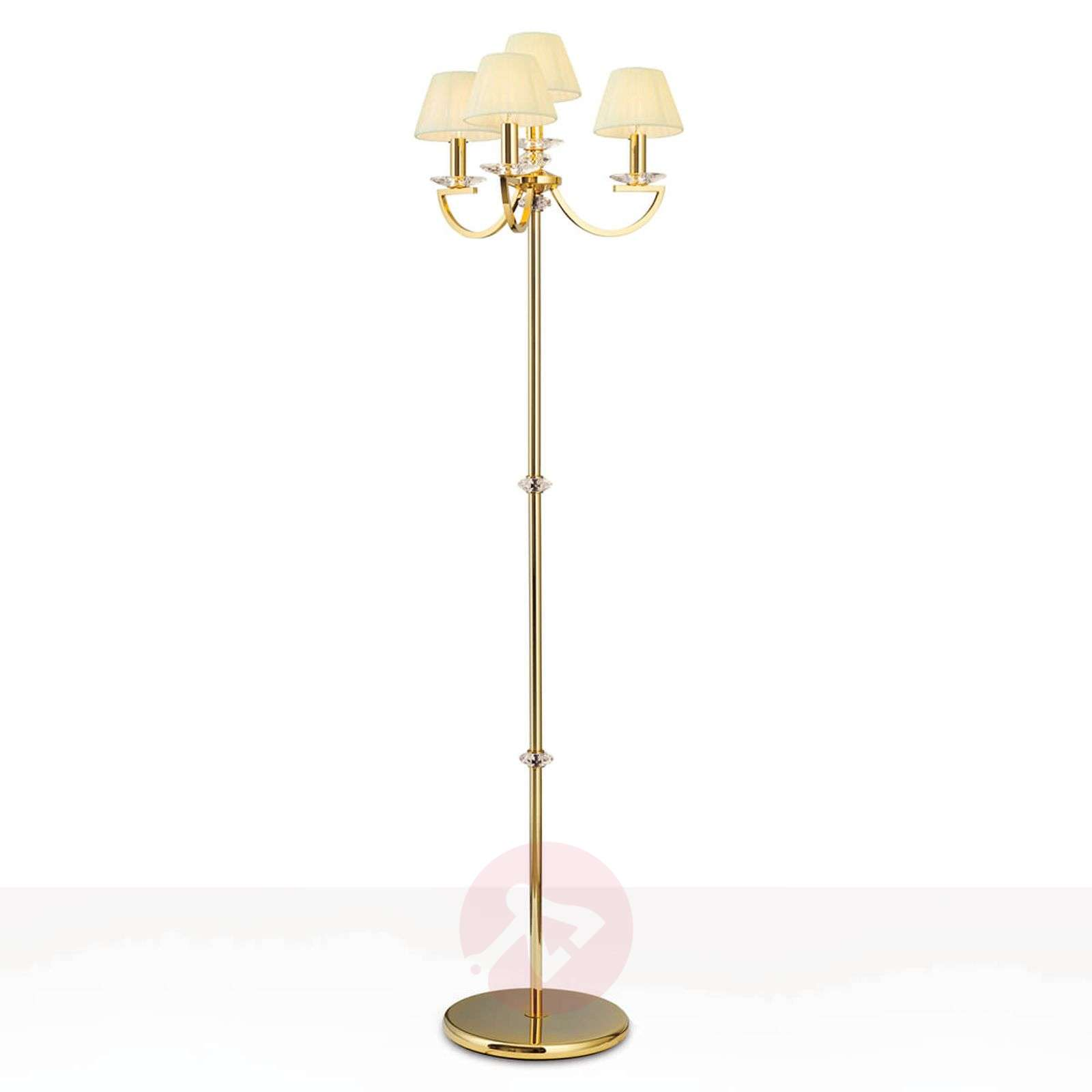 Crystal floor lamp avala 24 carat gold plated 7255244 01
