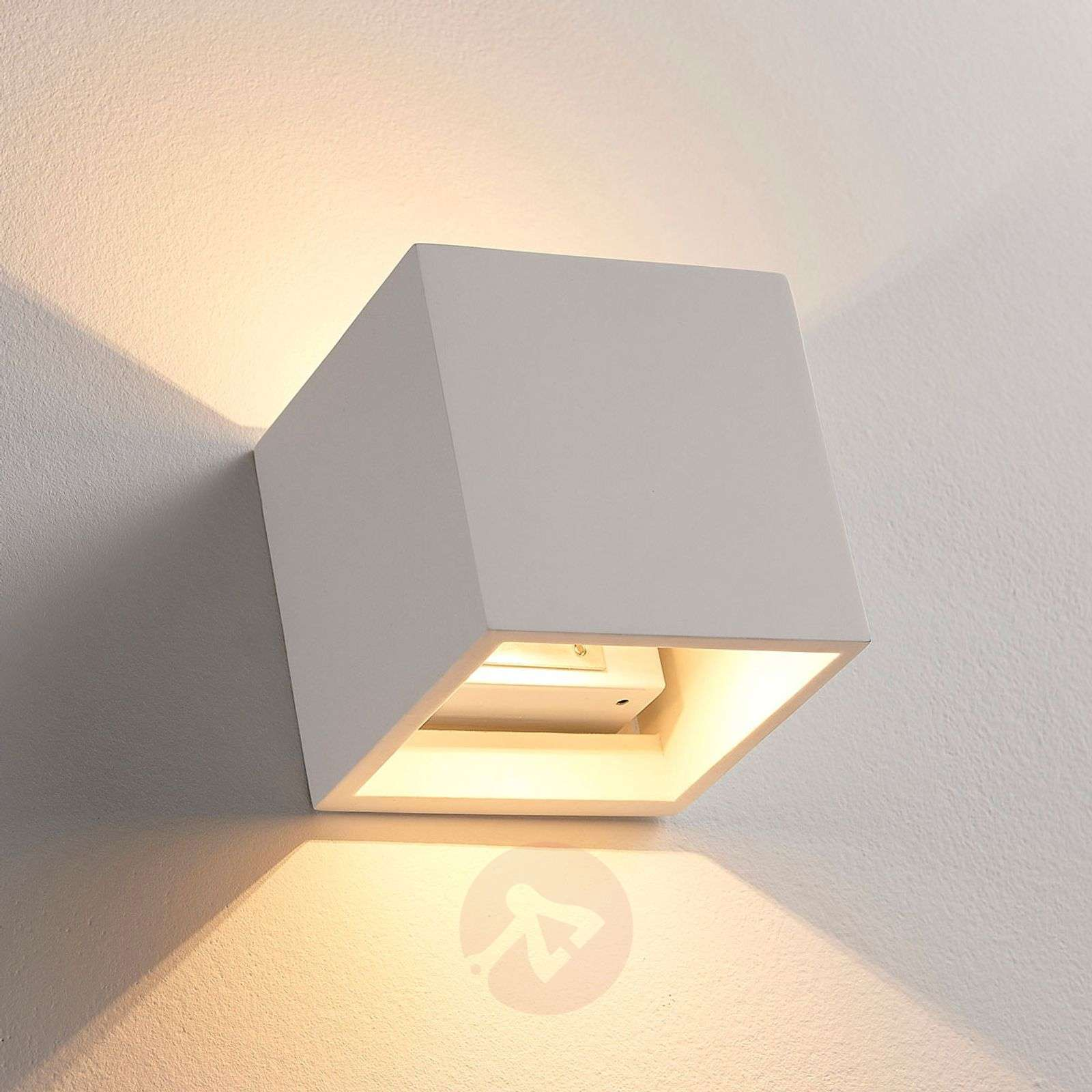 Cube shaped led wall lamp kay made of plaster lights cube shaped led wall lamp kay made of plaster 9621328 01 aloadofball Image collections