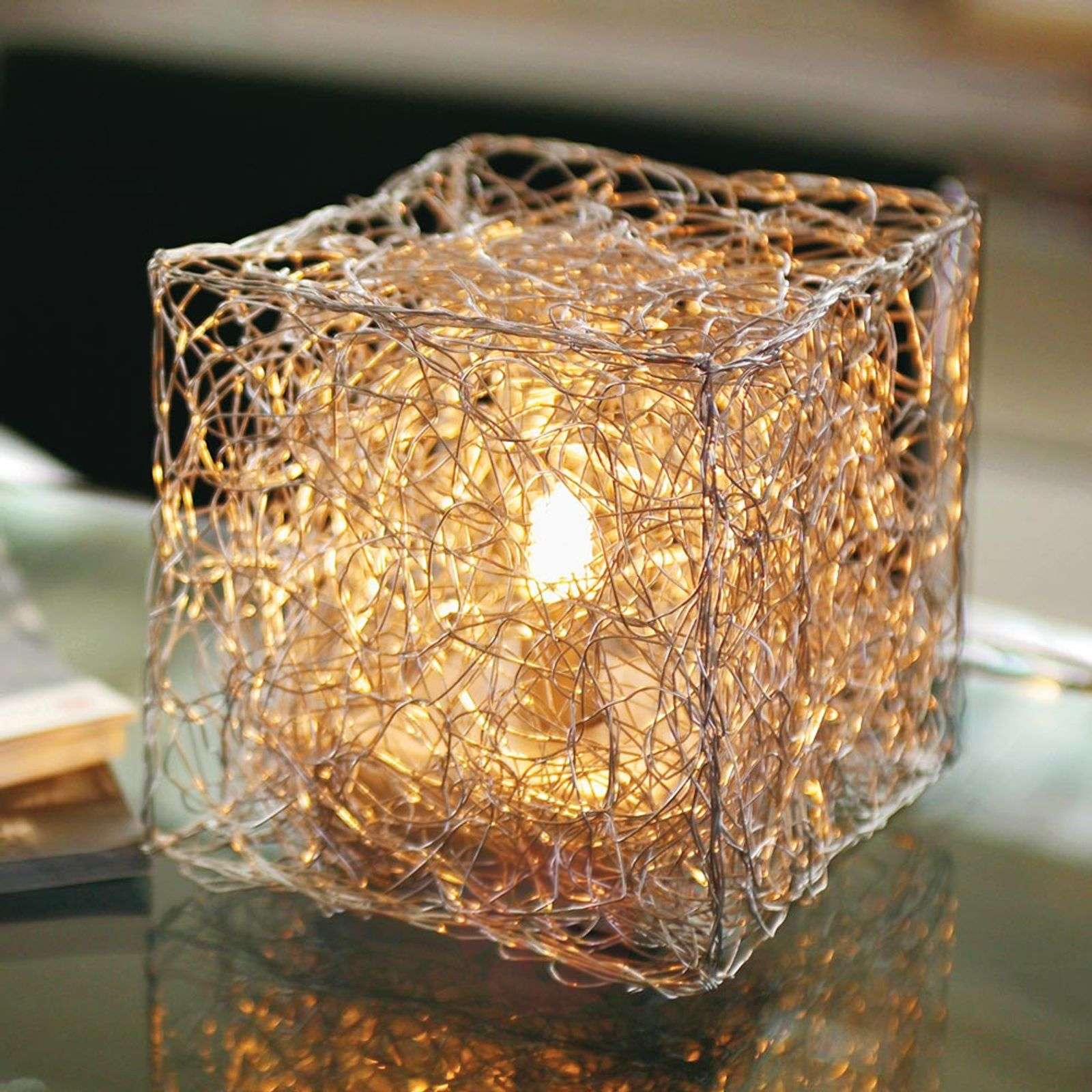 Cube-shaped table lamp Qubetto-5538040-01