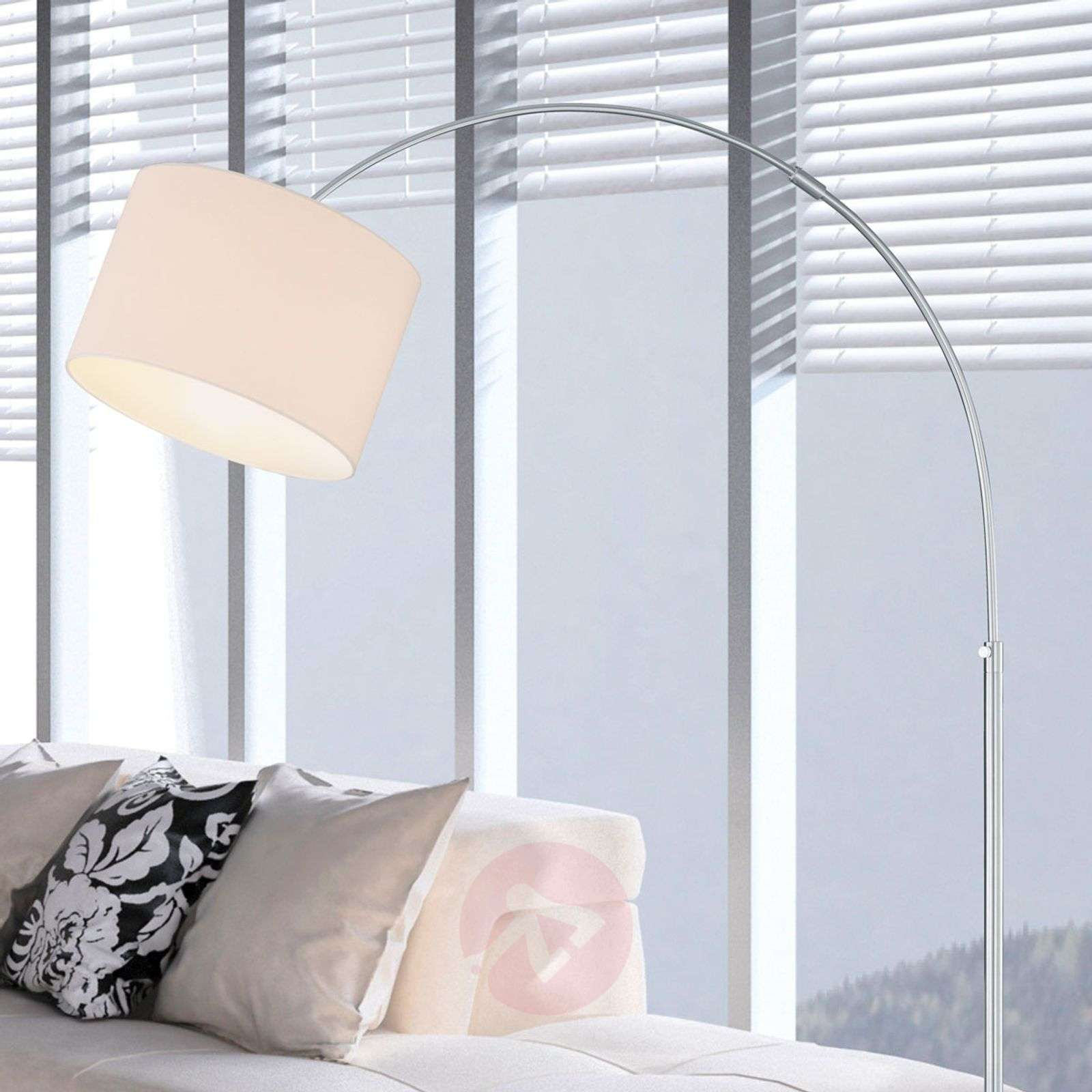 Curved floor lamp Risa with fabric lampshade-9004556-06
