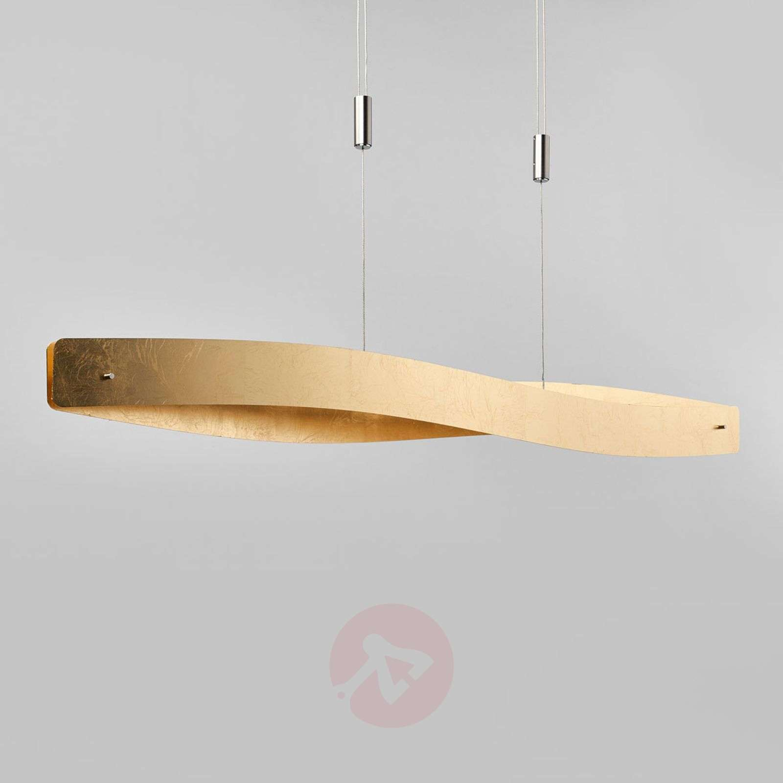 Curved LED hanging light Lian with a golden look-6722408-01