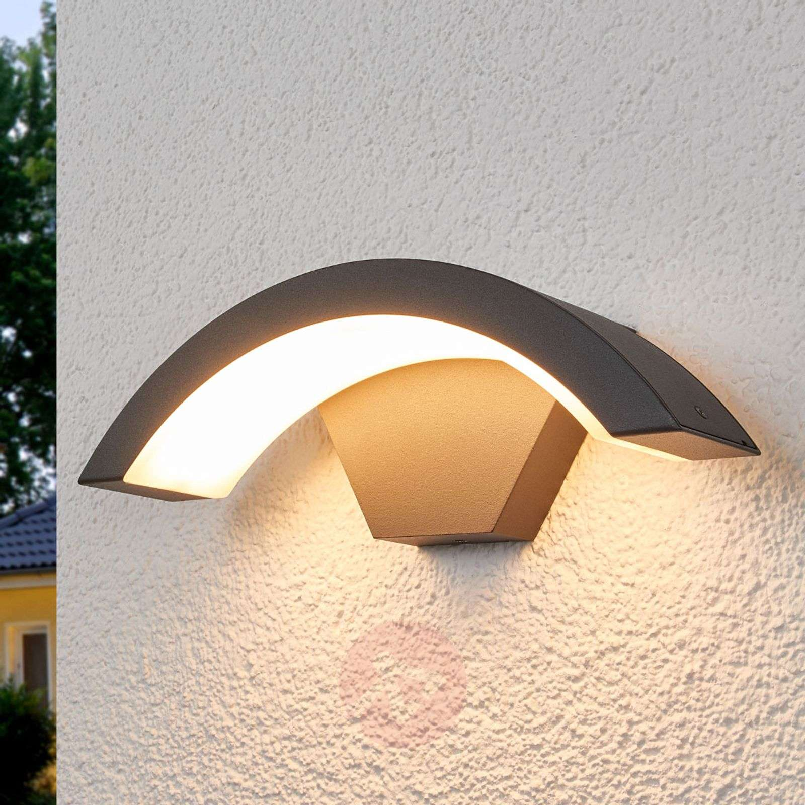 Curved LED outdoor wall light Jule-8032091-02