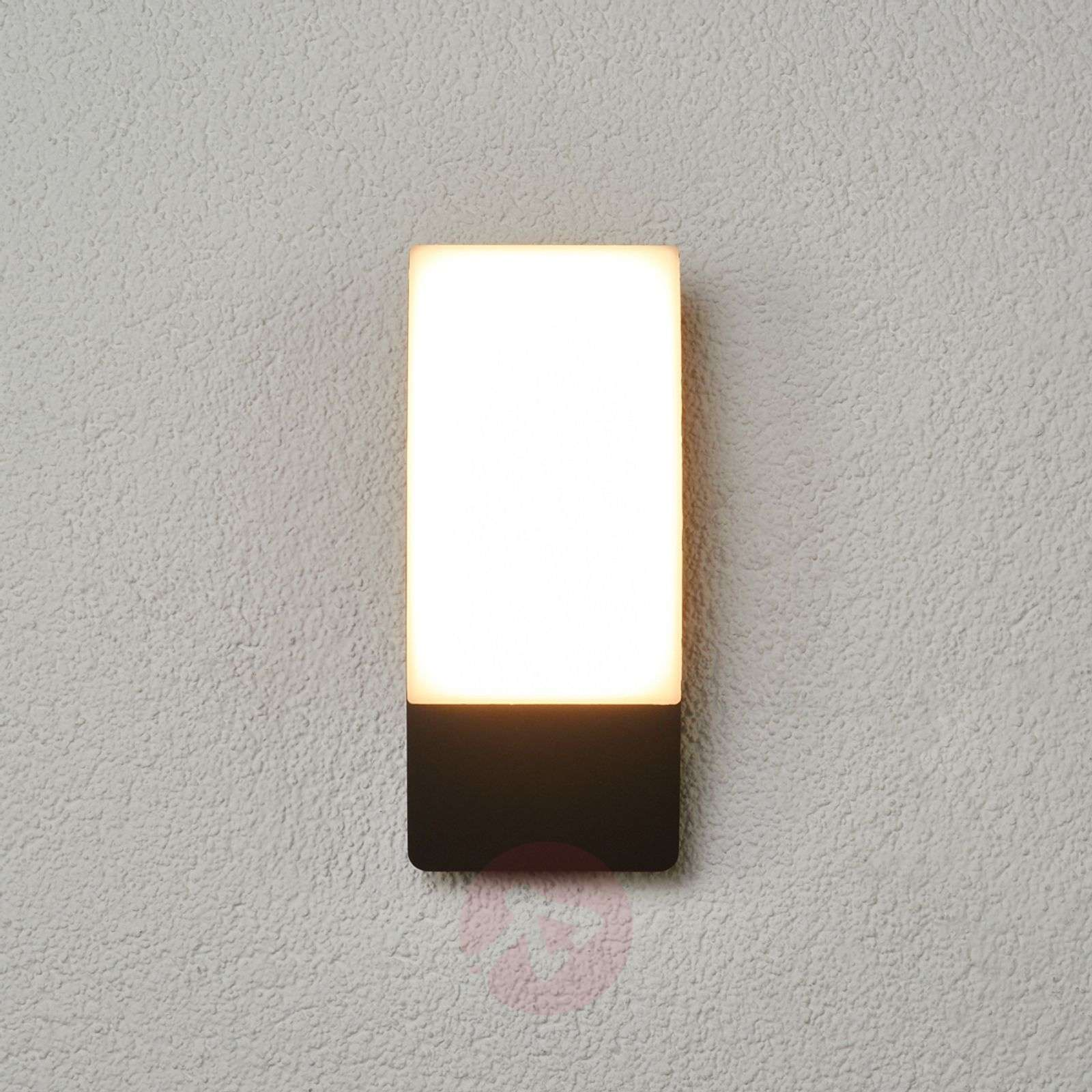 Curved Led Outdoor Wall Light Siara Dark Grey Lights Ie