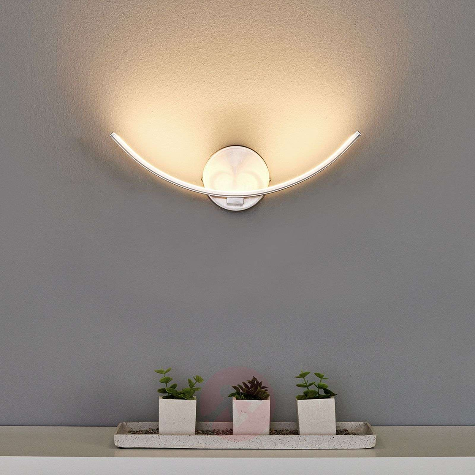 Curved LED wall lamp Iven-9985051-02