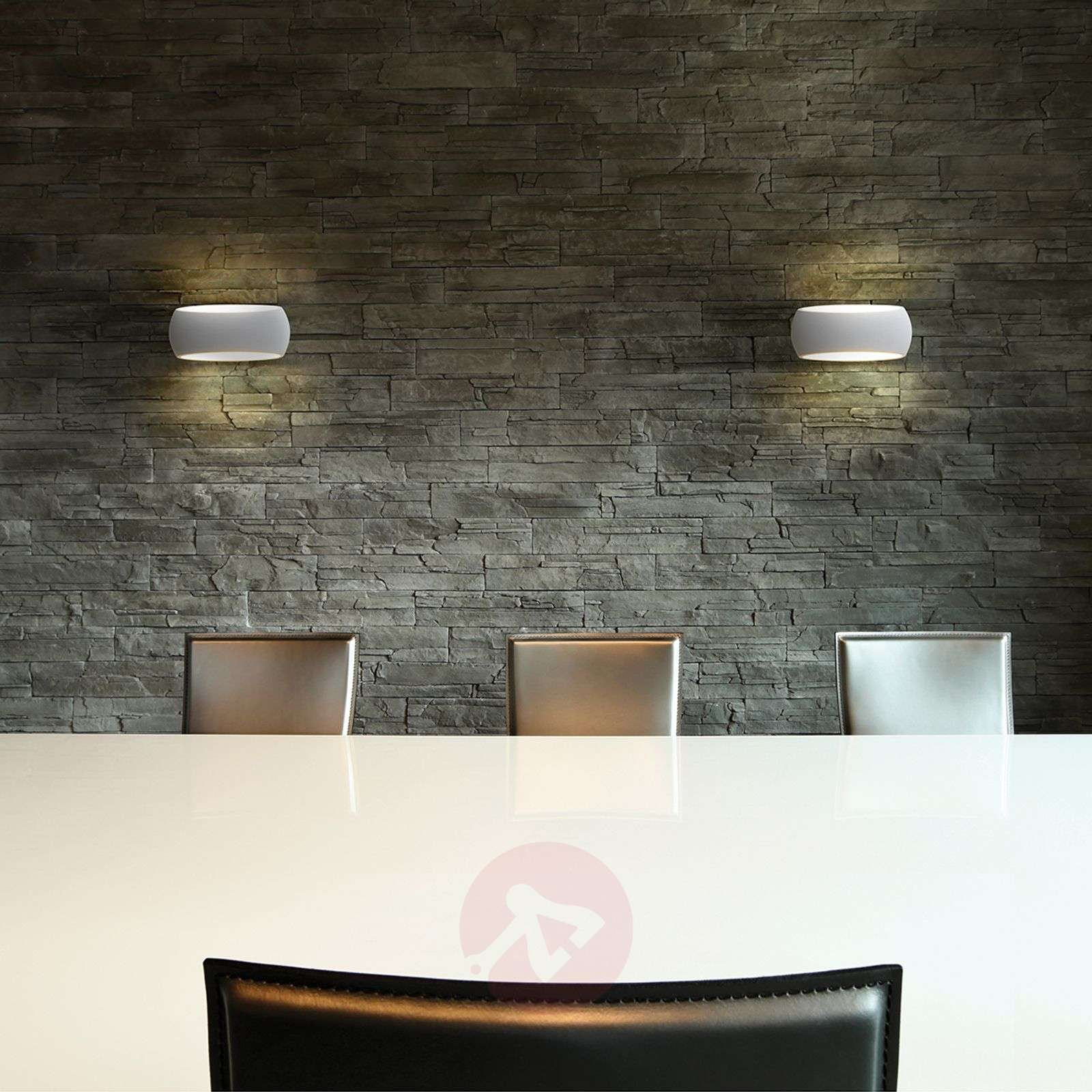 Customisable Aria wall lamp made of plaster-1020597-01