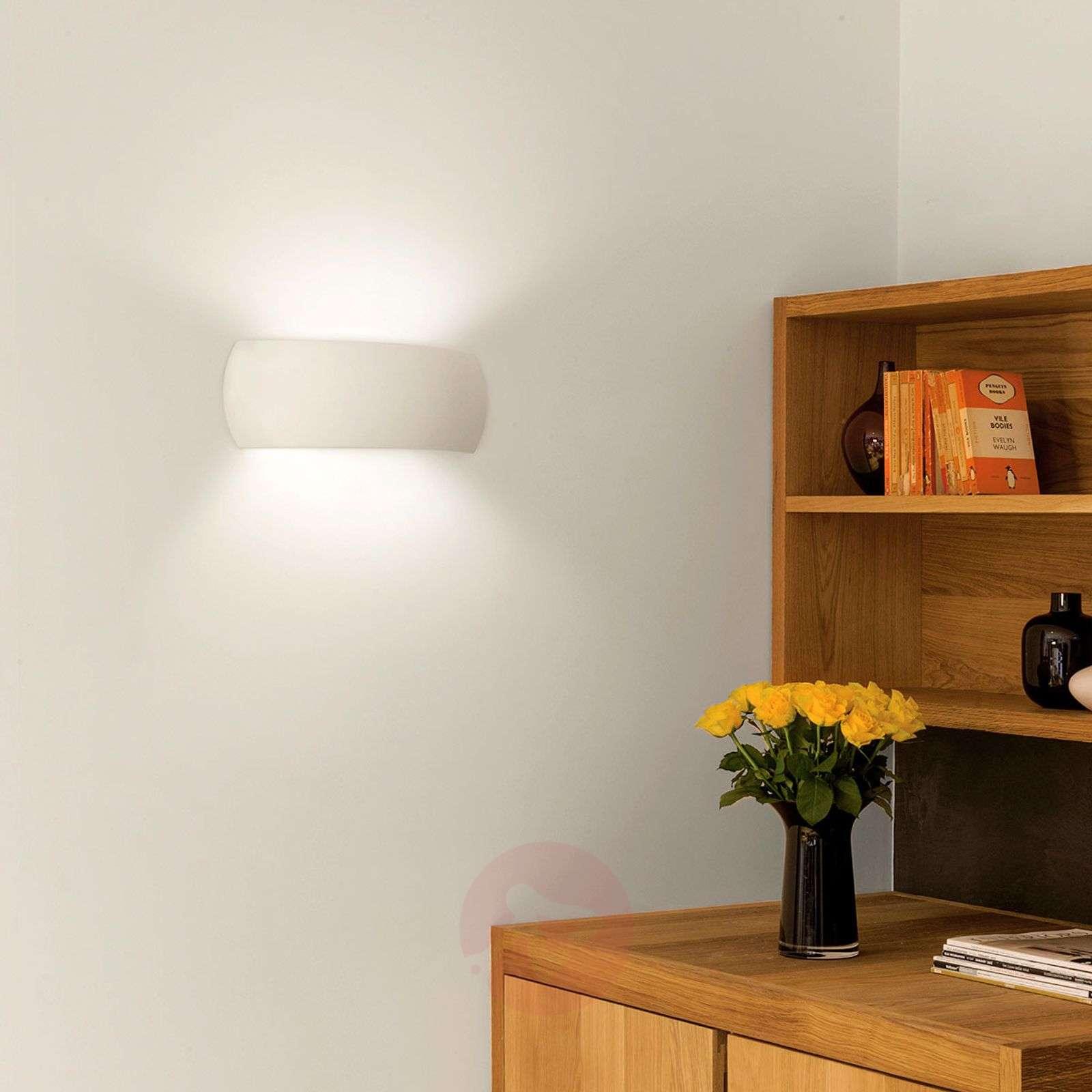 Customisable plaster wall lamp Milo-1020592-01