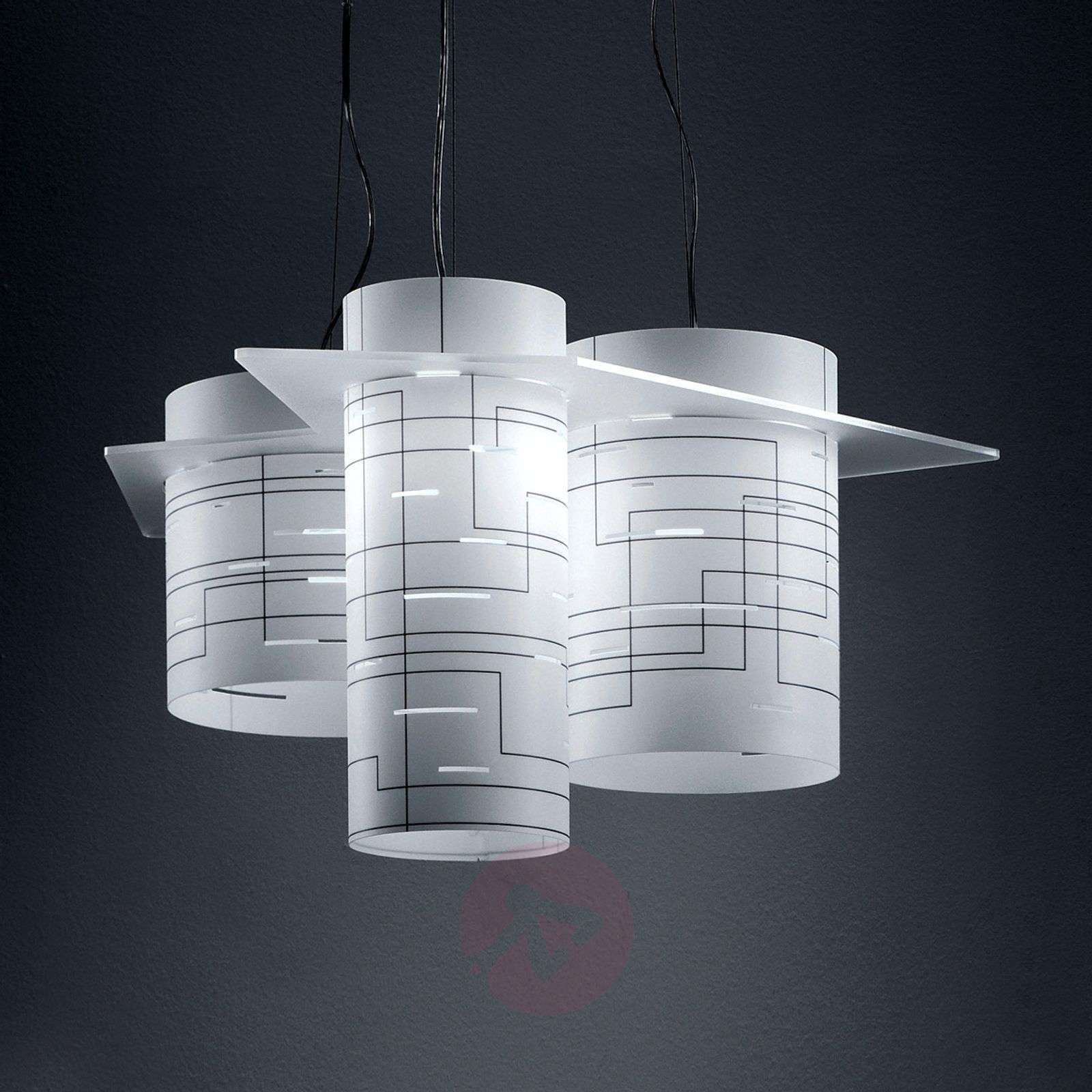 Cylindrical hanging light Brothers, white-1056028-01