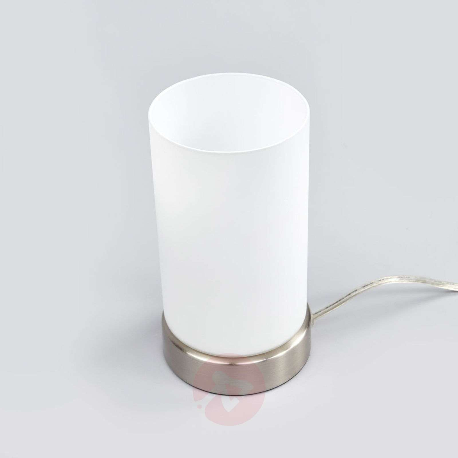 Cylindrical LED table lamp Levka made of glass-9970138-02