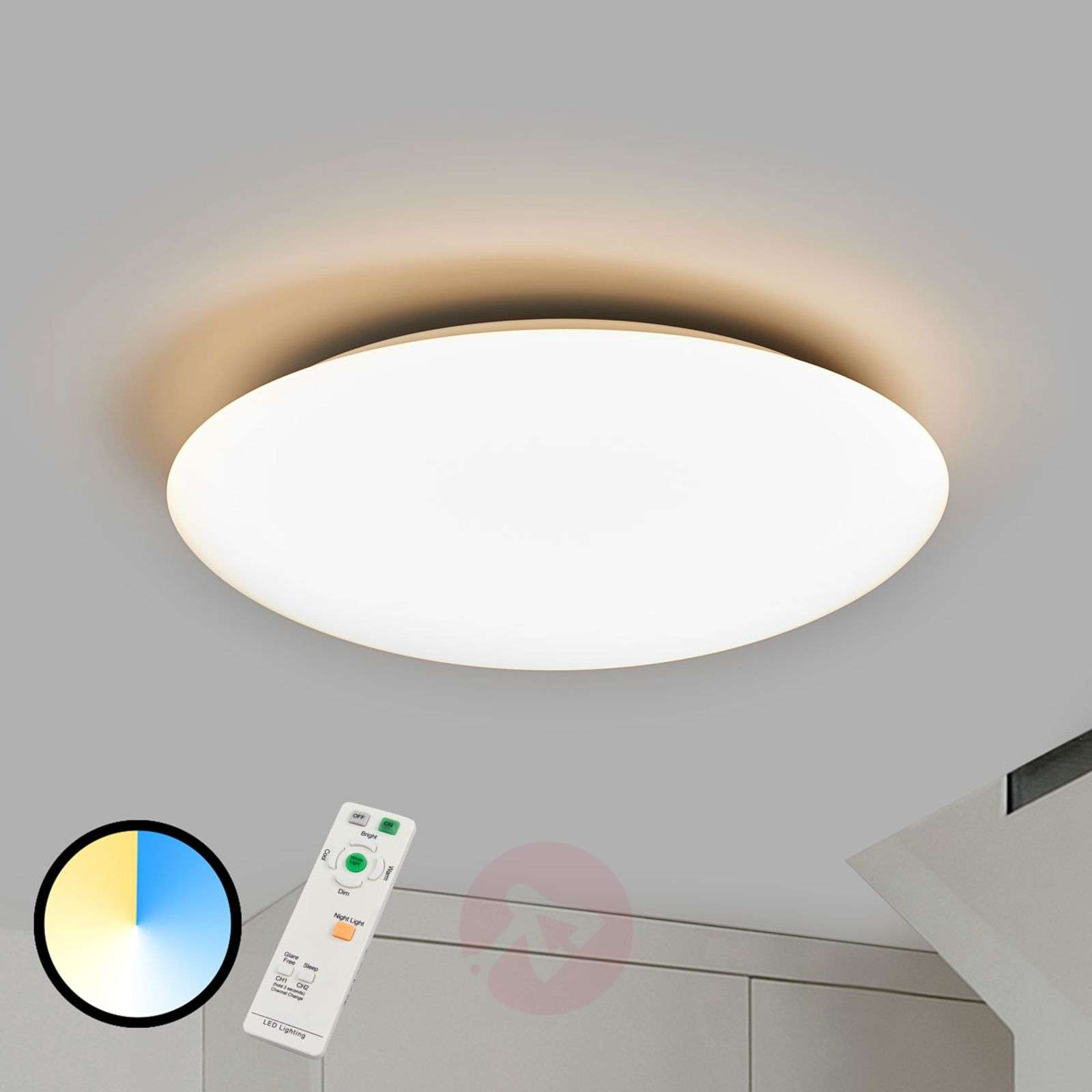 Daria LED ceiling light with variable light-9952009-02