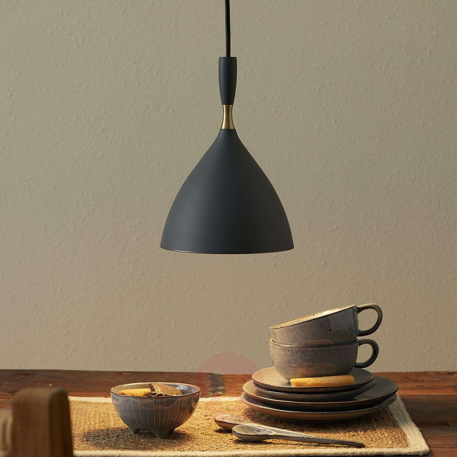 Dark grey hanging light Dokka, made of steel-7013063-01
