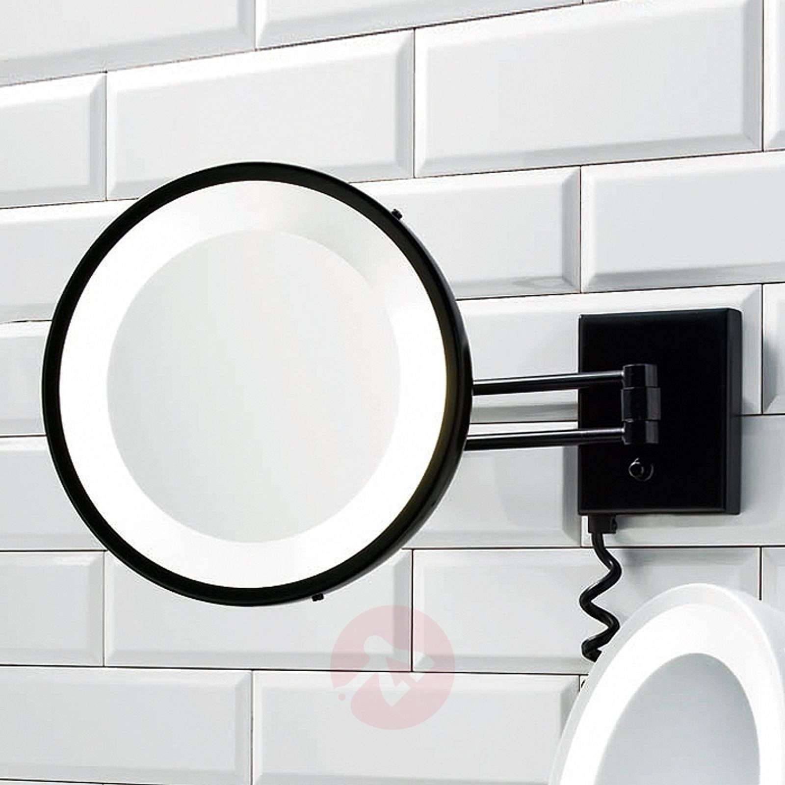 Decor Walther BS 25 make-up mirror black 5x-2504350-01