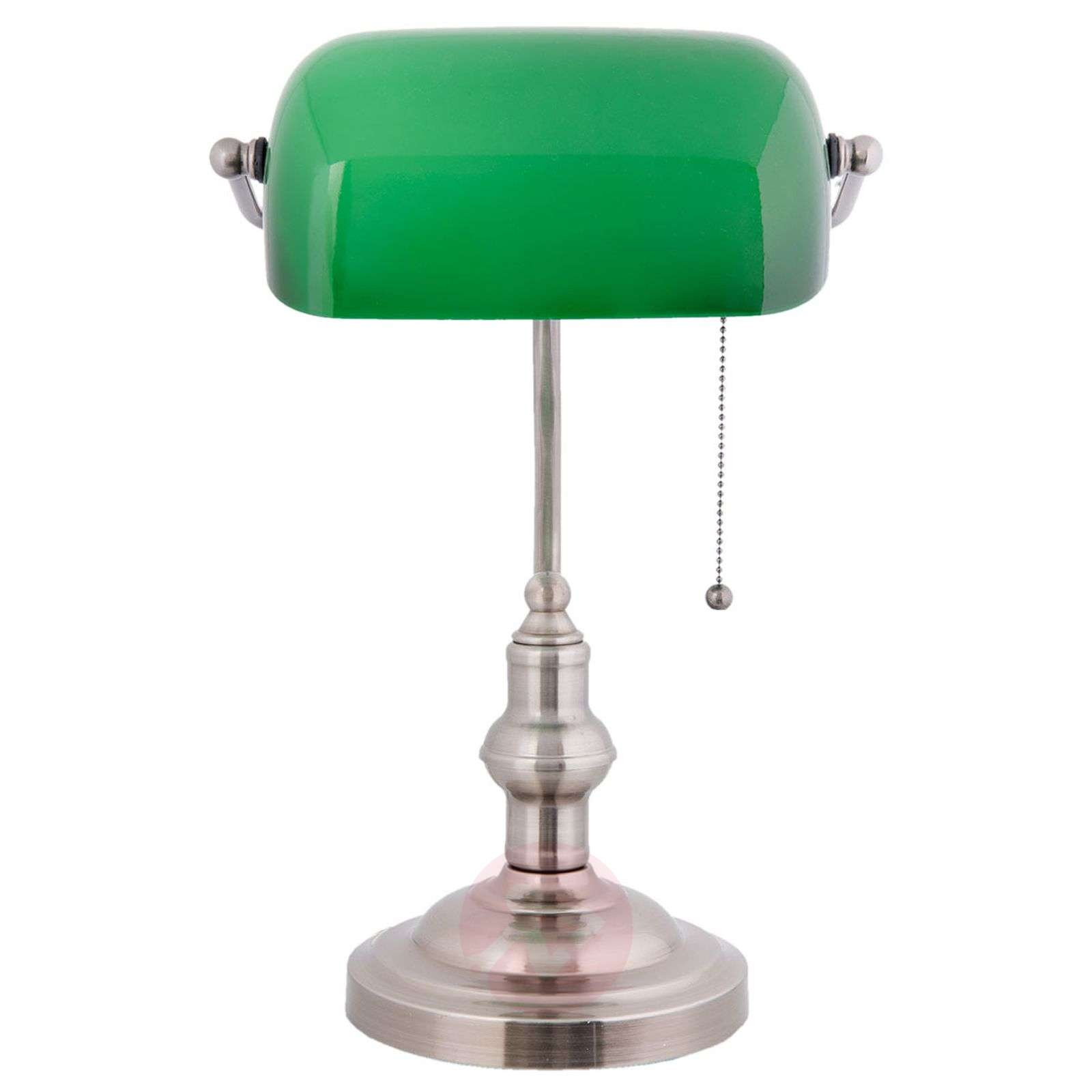 Decorative banker lamp Verda with a nickel base-6064122-01