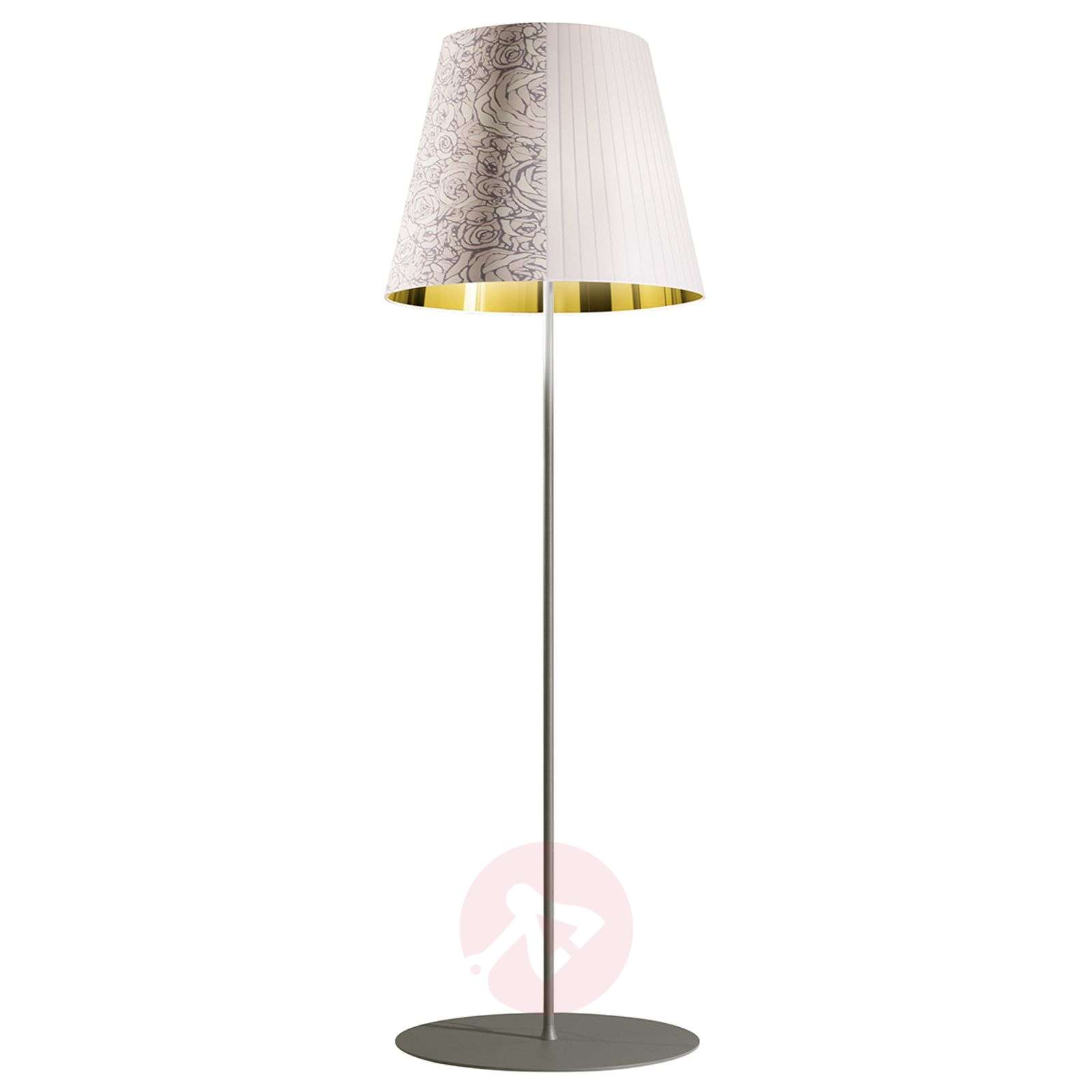 Decorative floor lamp melting pot in white gold 1088117 01