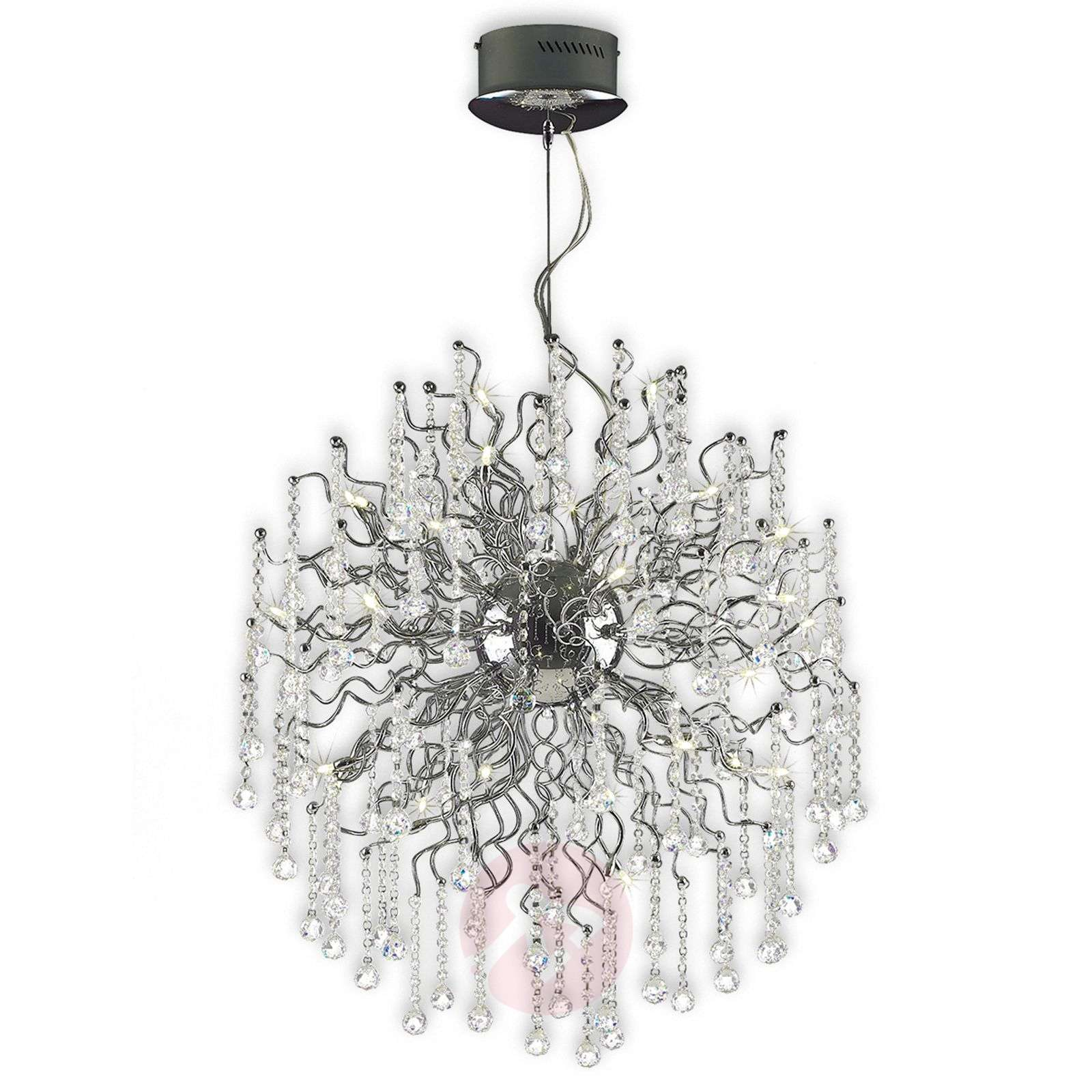 decorative hanging light nash xl with adornment lights ie