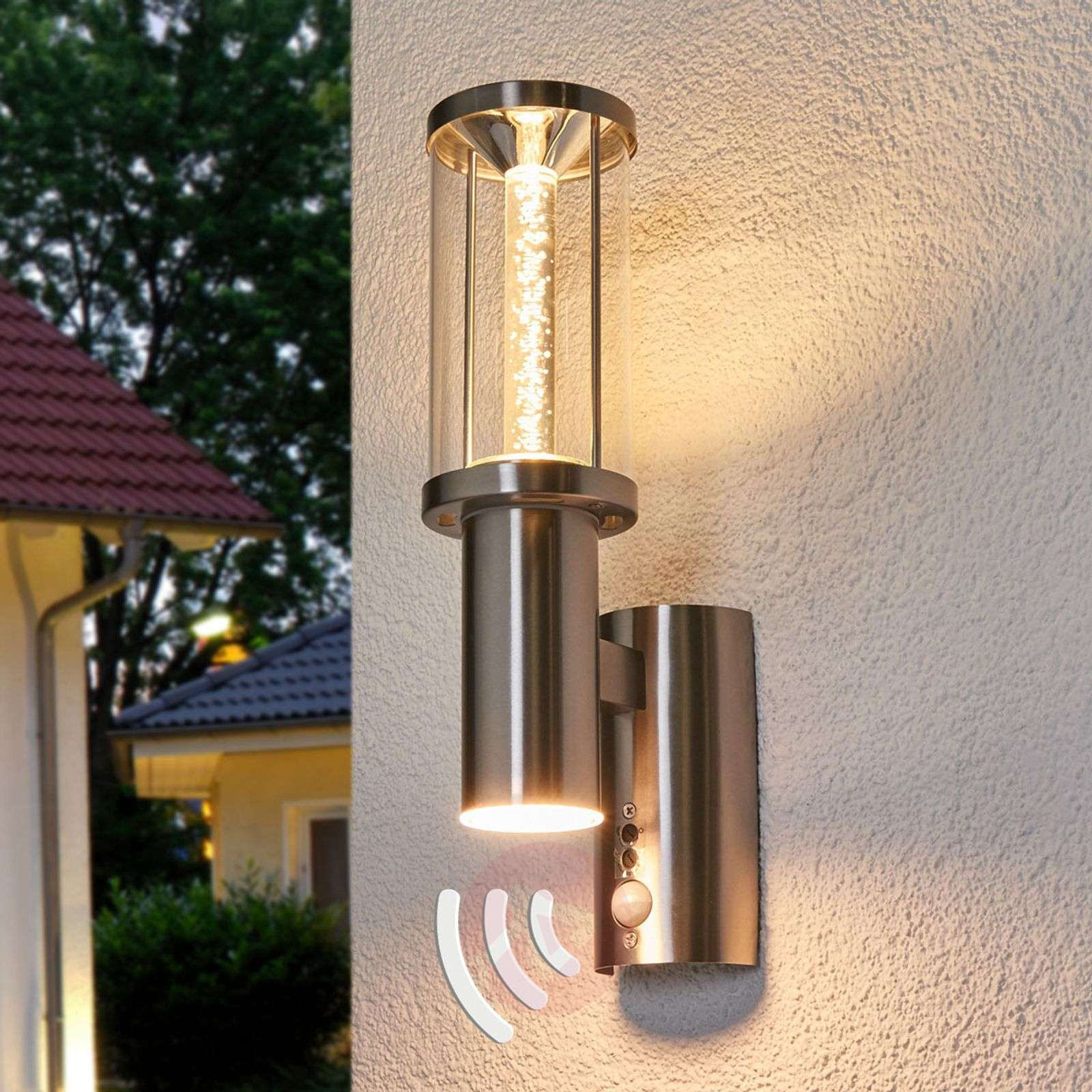 Backyard Patio Privacy White Accent Wall Lighting: Decorative LED Outdoor Light Trono Stick With PIR