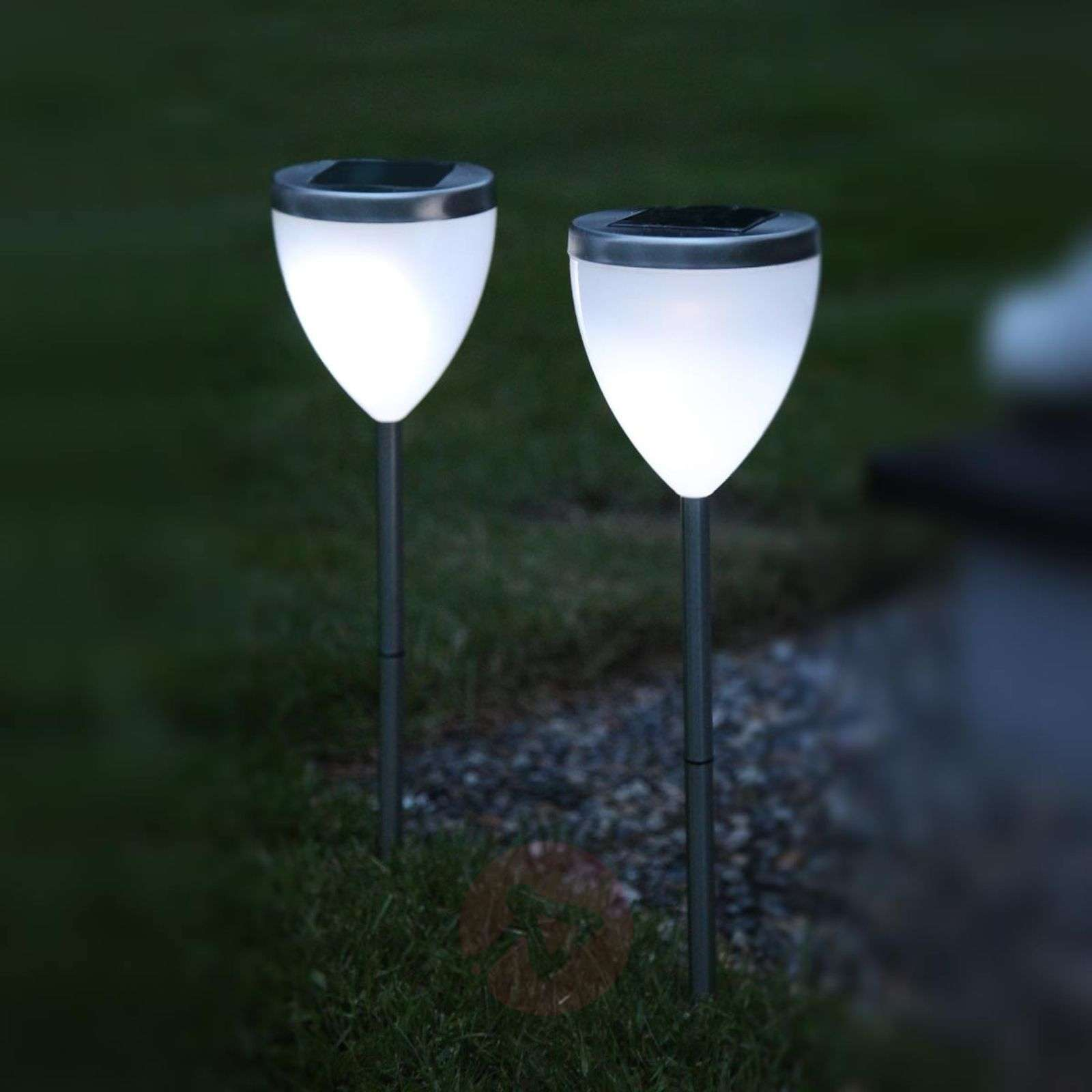 Decorative LED solar lamp Jannik set of 2-1522464-01