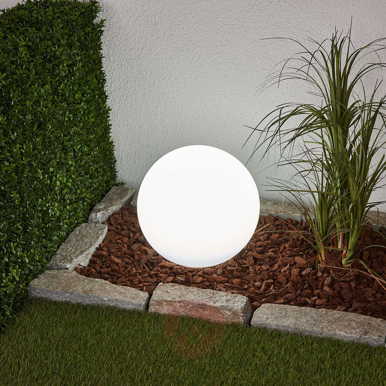 Decorative LED solar lamp Lago, spherical-4018064-02