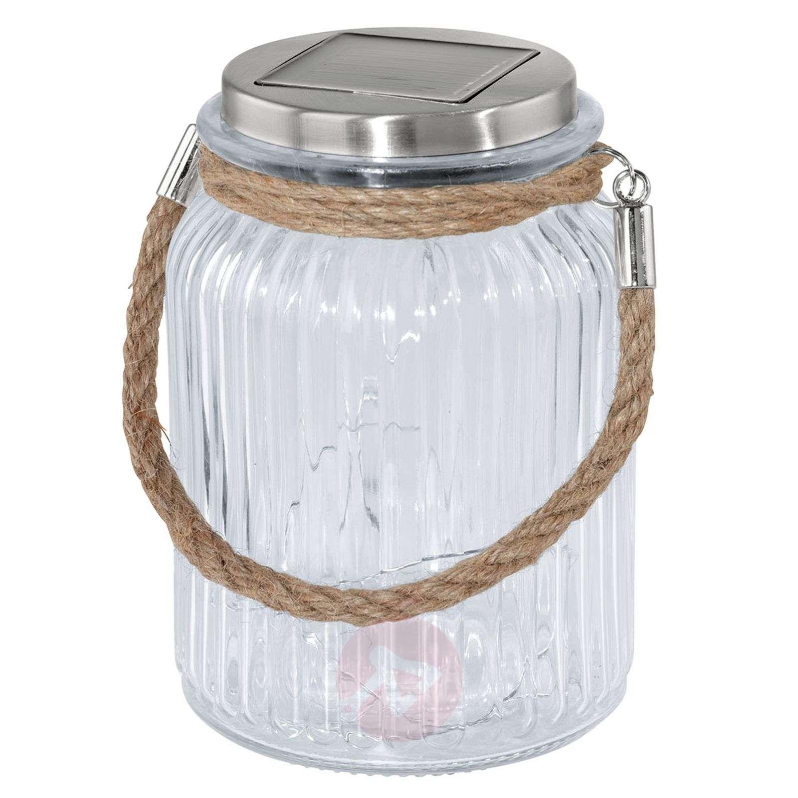 Decorative LED solar light Lea, jar shape-3000596-01