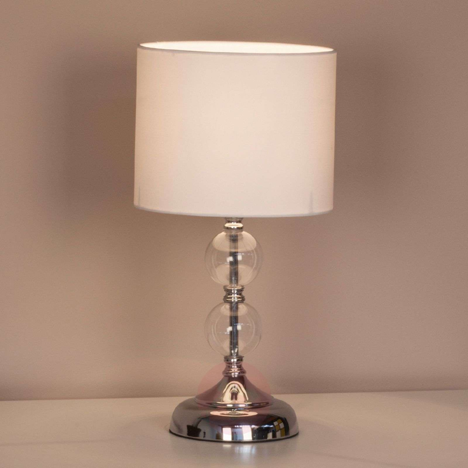 Decorative table lamp Rom with fabric lampshade_1508949_1