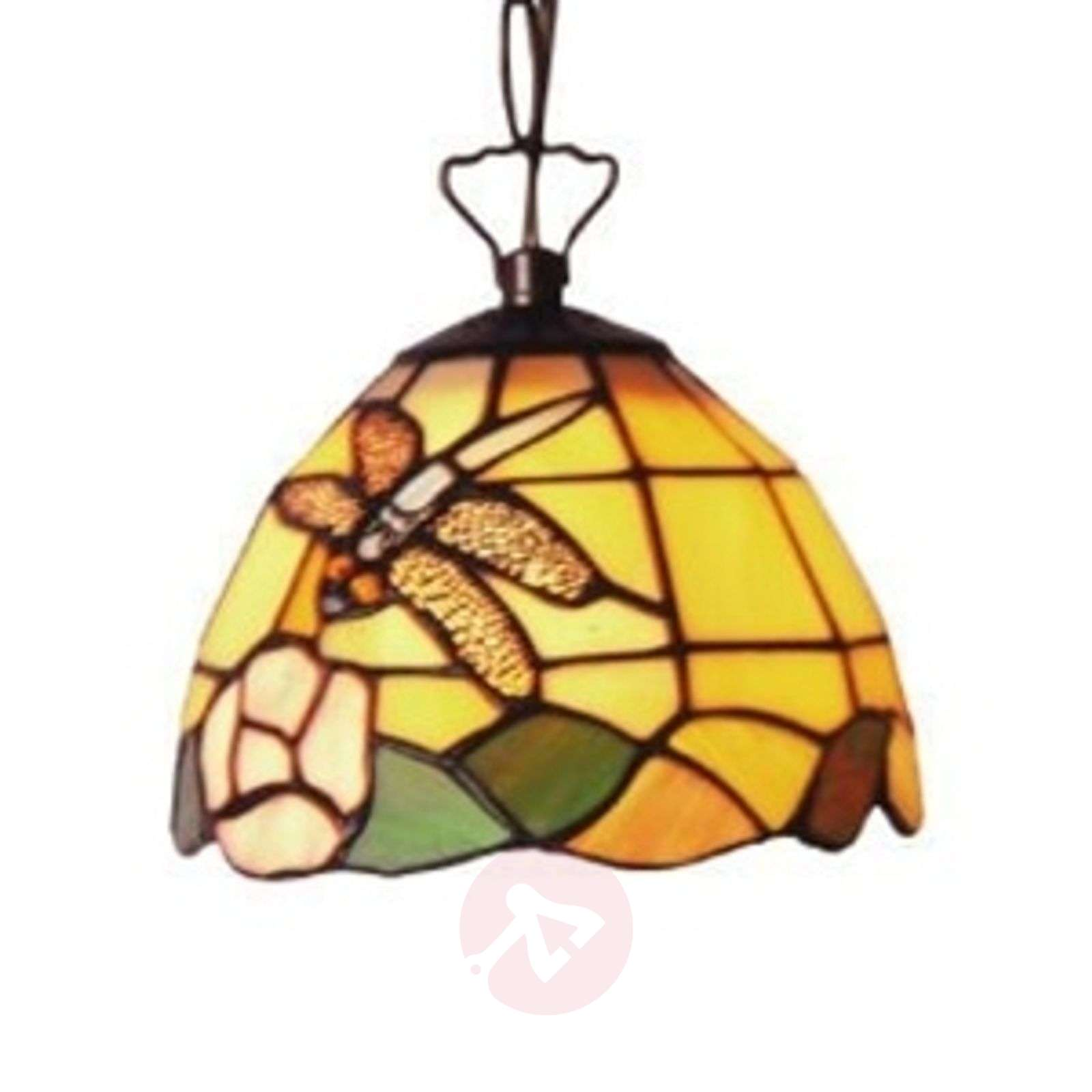 Decorative Tiffany-style hanging light LIBELLE-1032066-01
