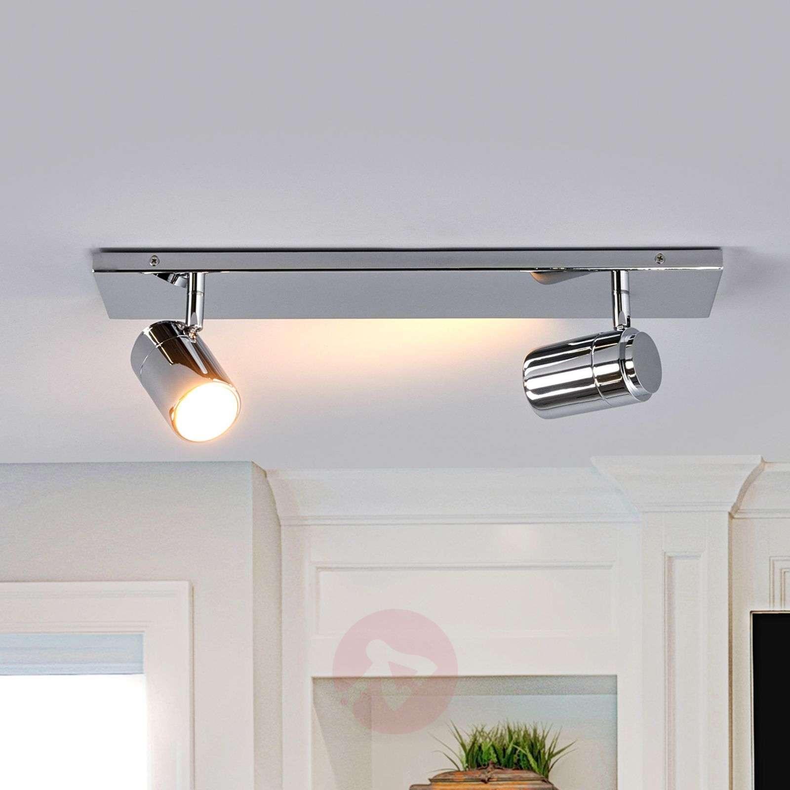 Dejan bathroom wall light in chrome, two bulbs-9641037-01