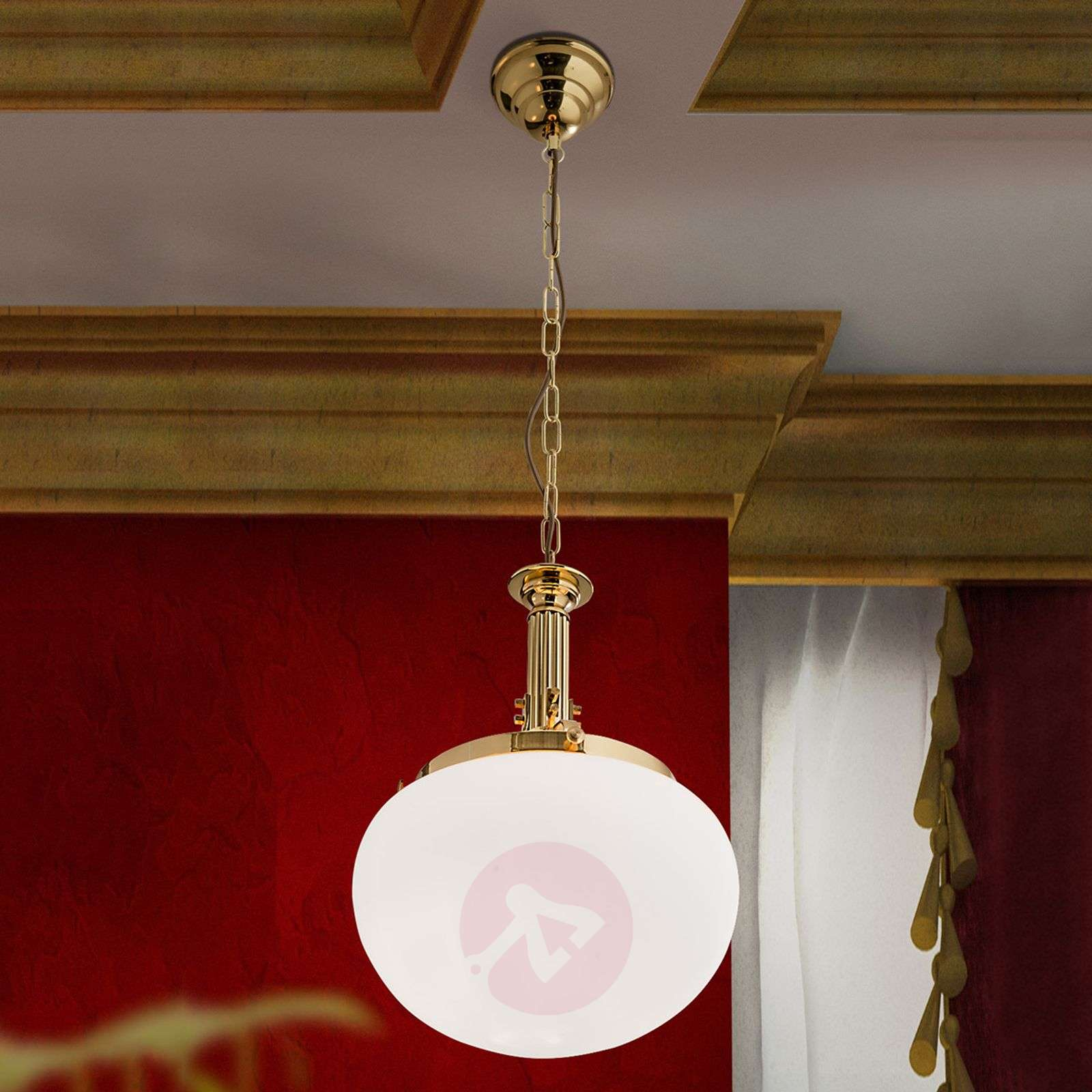 Delia Hanging Light Single Bulb Brass-7254018-01