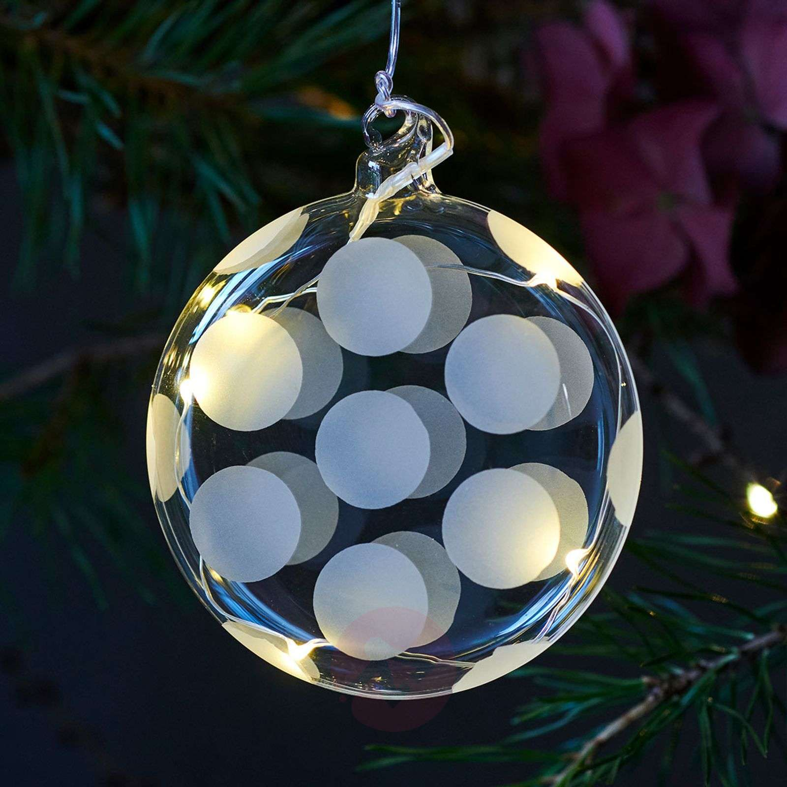 Delicate LED glass bauble Polka-8577247-01