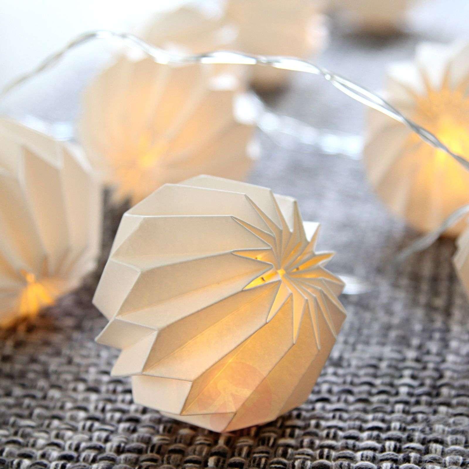 Delicate LED string lights Paper Flower-1522833-01