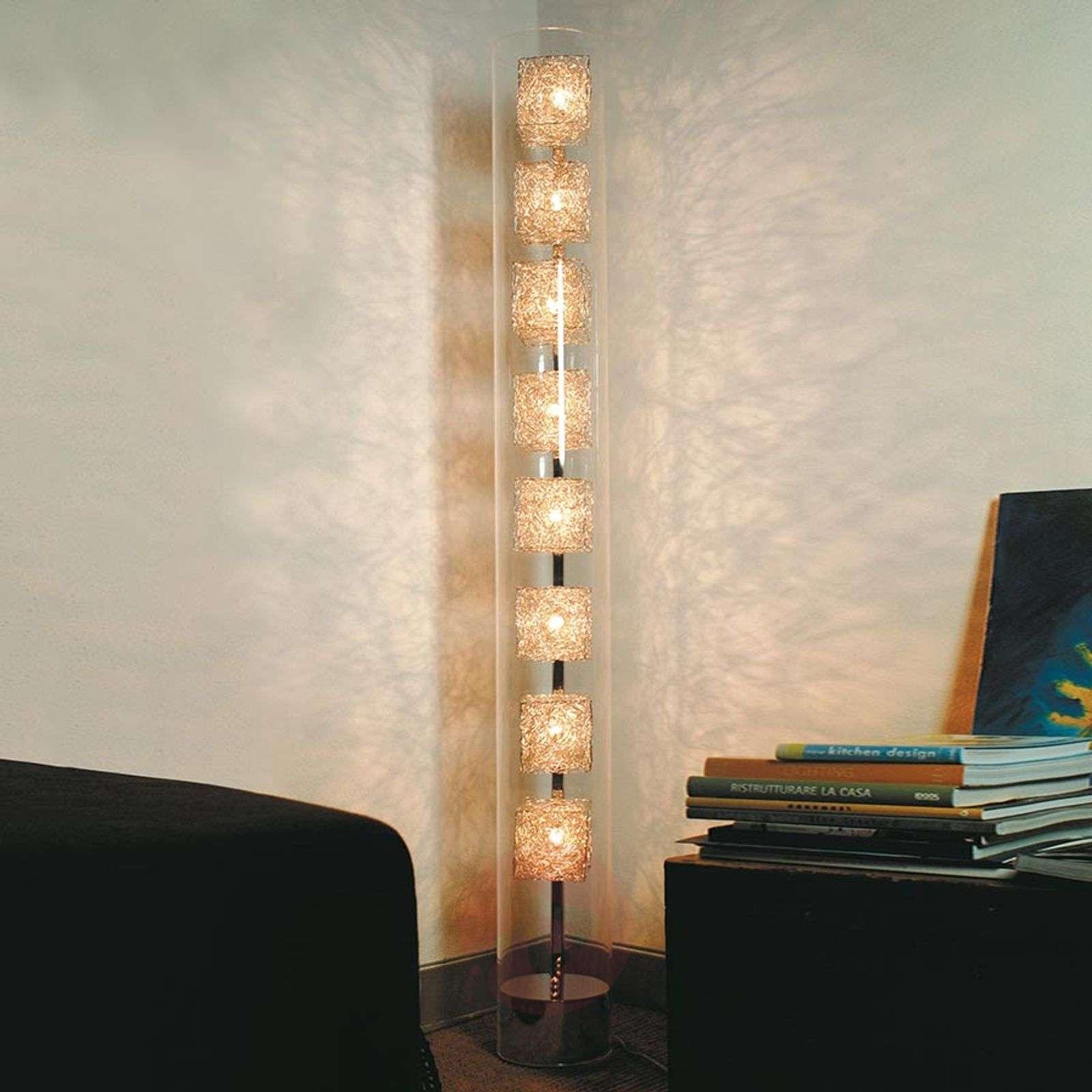 Designer floor lamp Kubini in tube shape-5538045-01