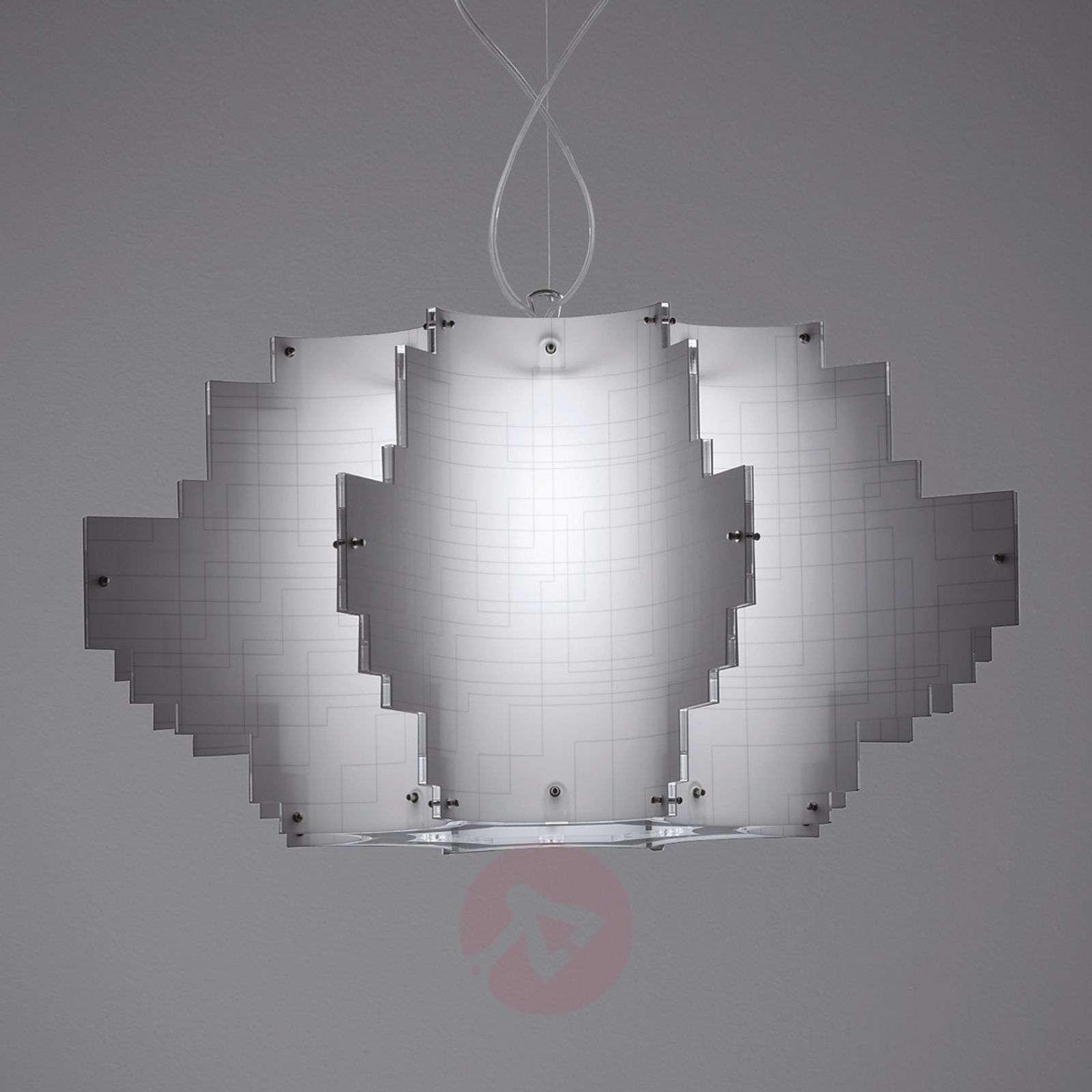 Designer hanging light Nuvola, white-1056022-01