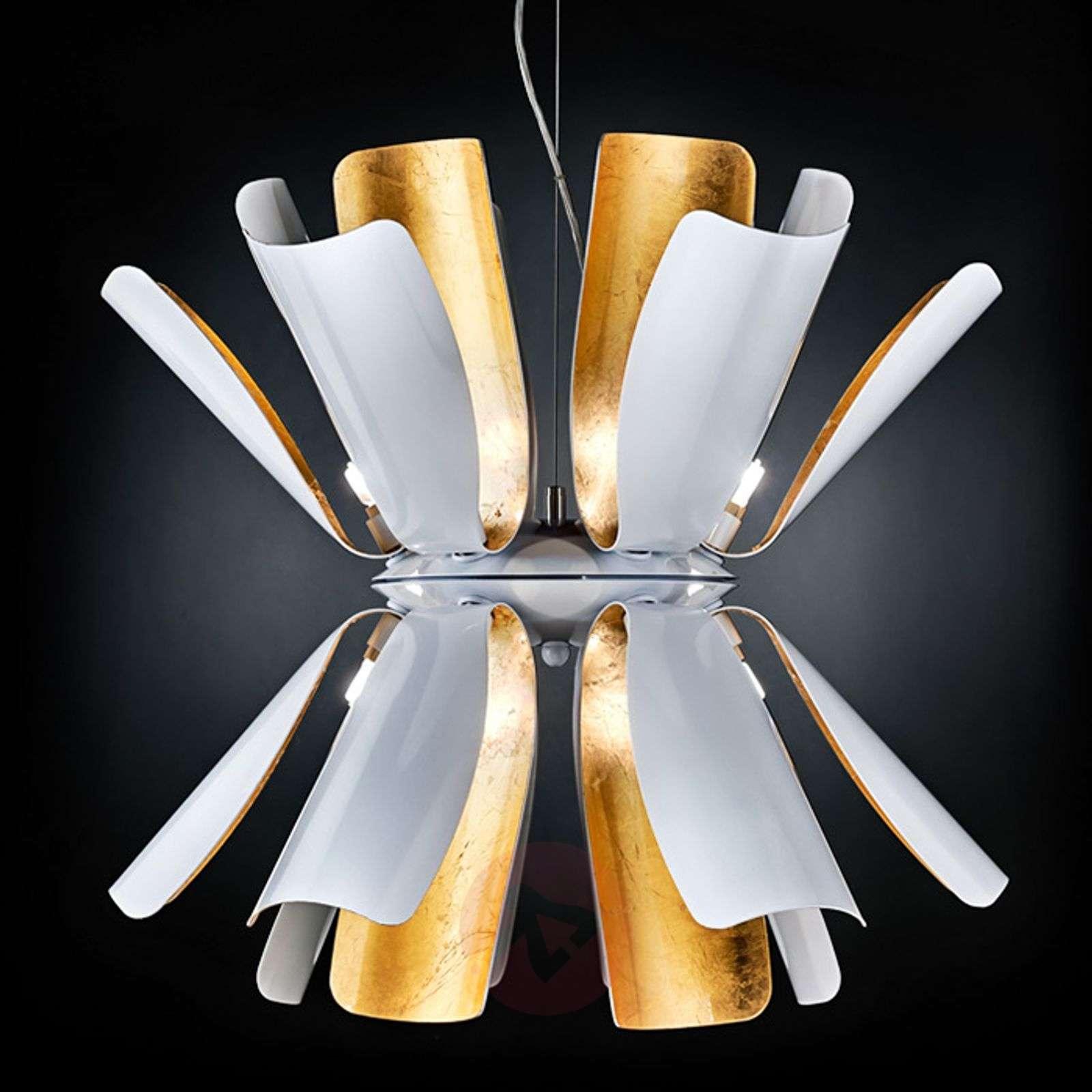 Designer hanging light Tropic with gold leaf-6511153-01