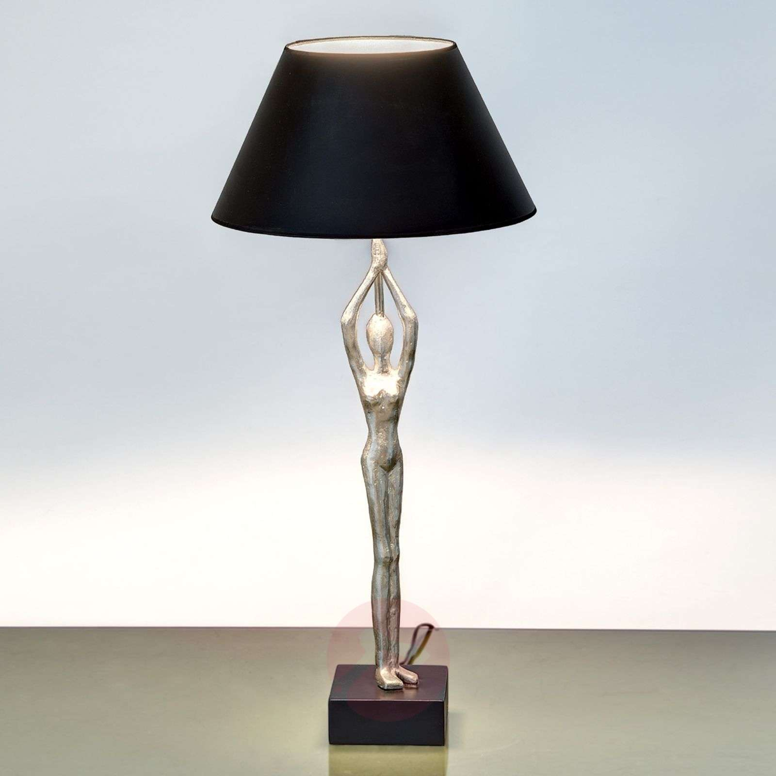 Designer table lamp Ballerino with figure-4512481-01