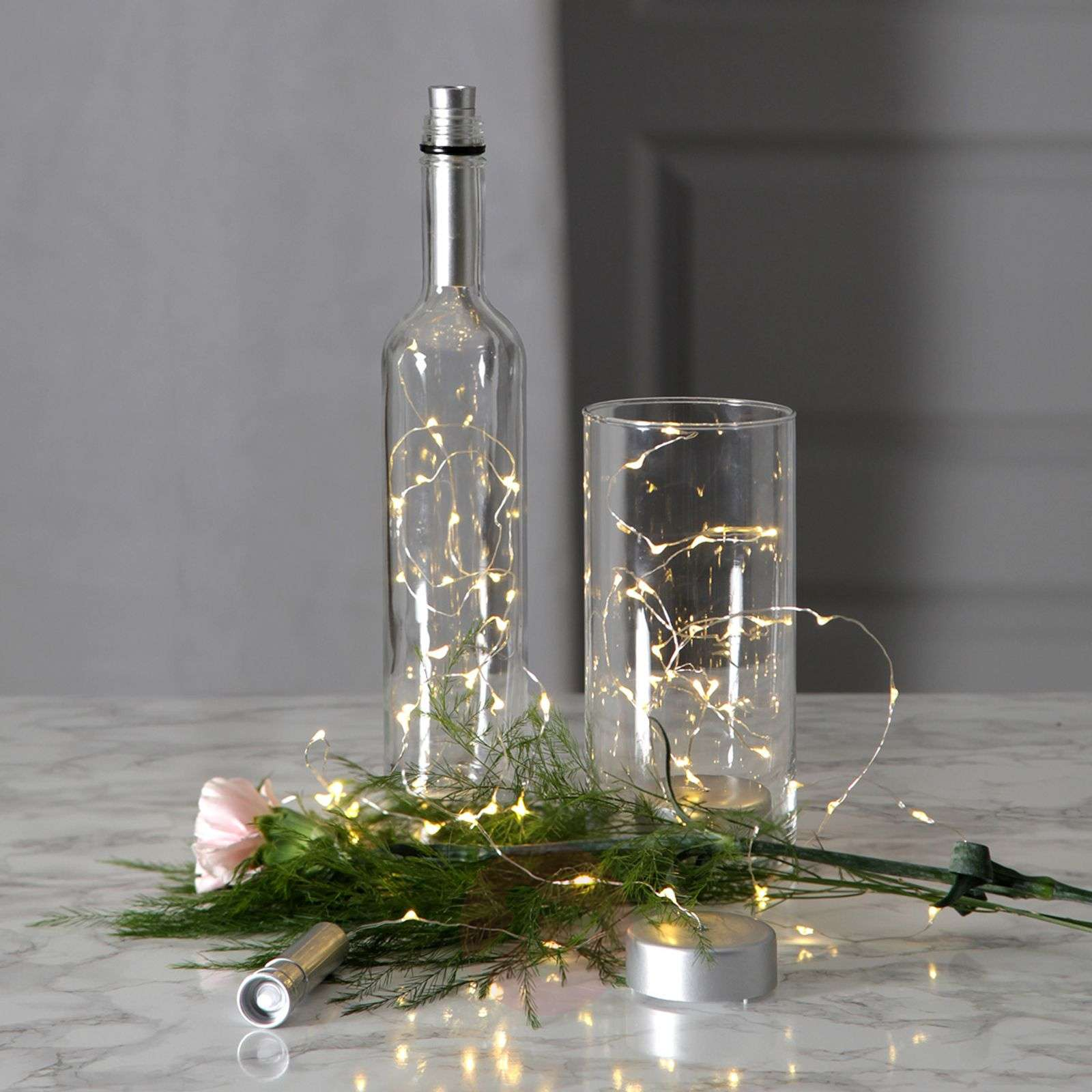 Dew Drops battery-powered LED string lights, 100cm-1523116-01