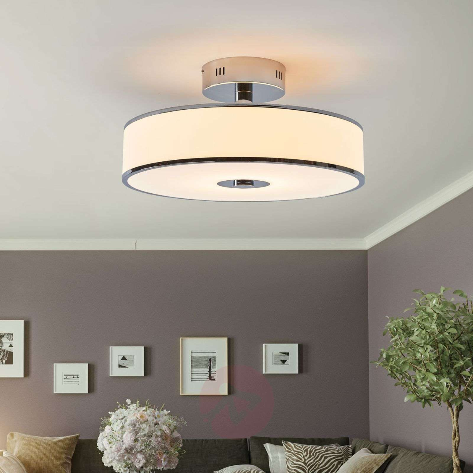 lounge lighting. Dimmable LED Ceiling Lamp Lounge In White/chrome-8507921-02 Lighting E