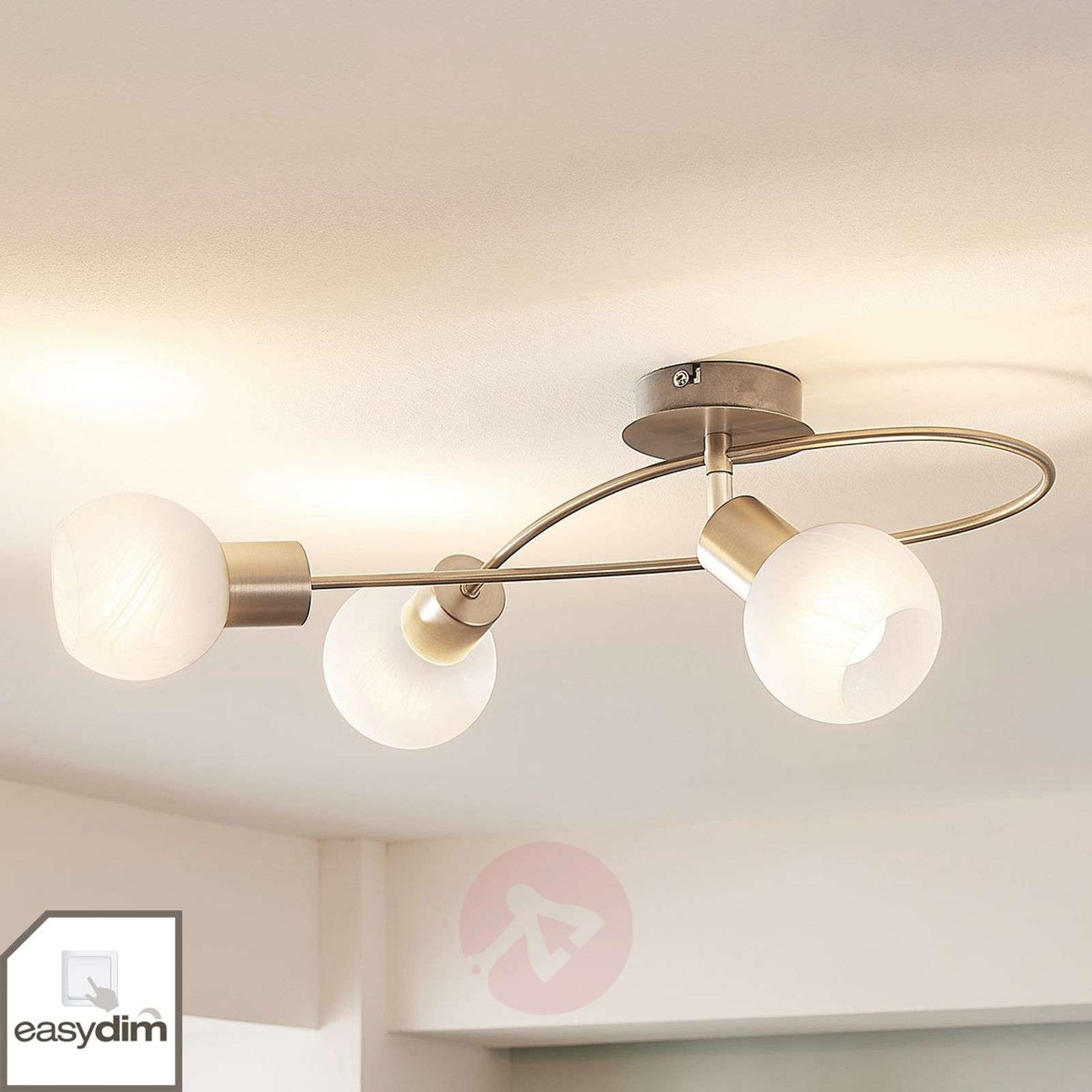 Dimmable LED ceiling light Tanos, matt nickel-9621567-03