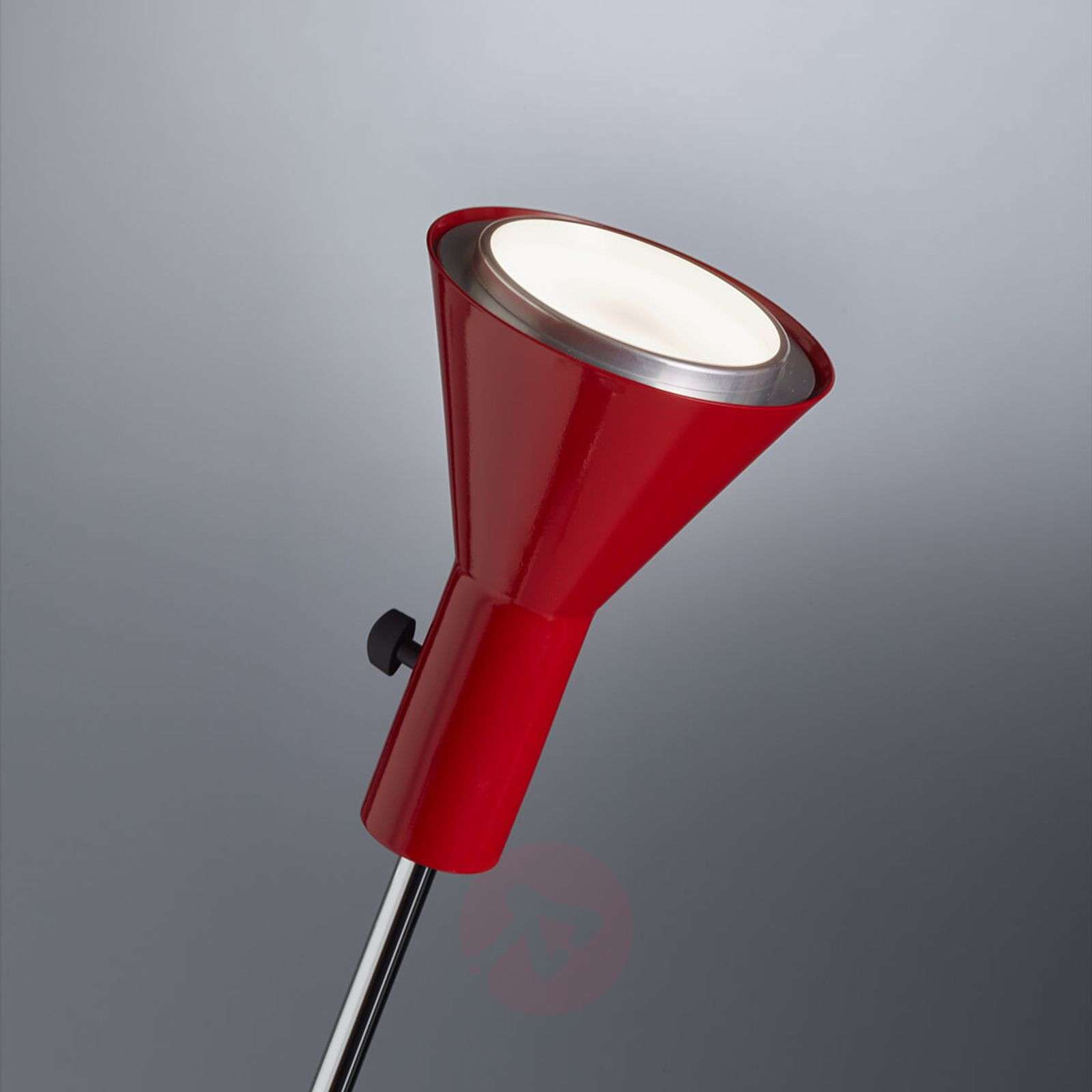 Dimmable LED floor lamp Gru in red-9030223-01