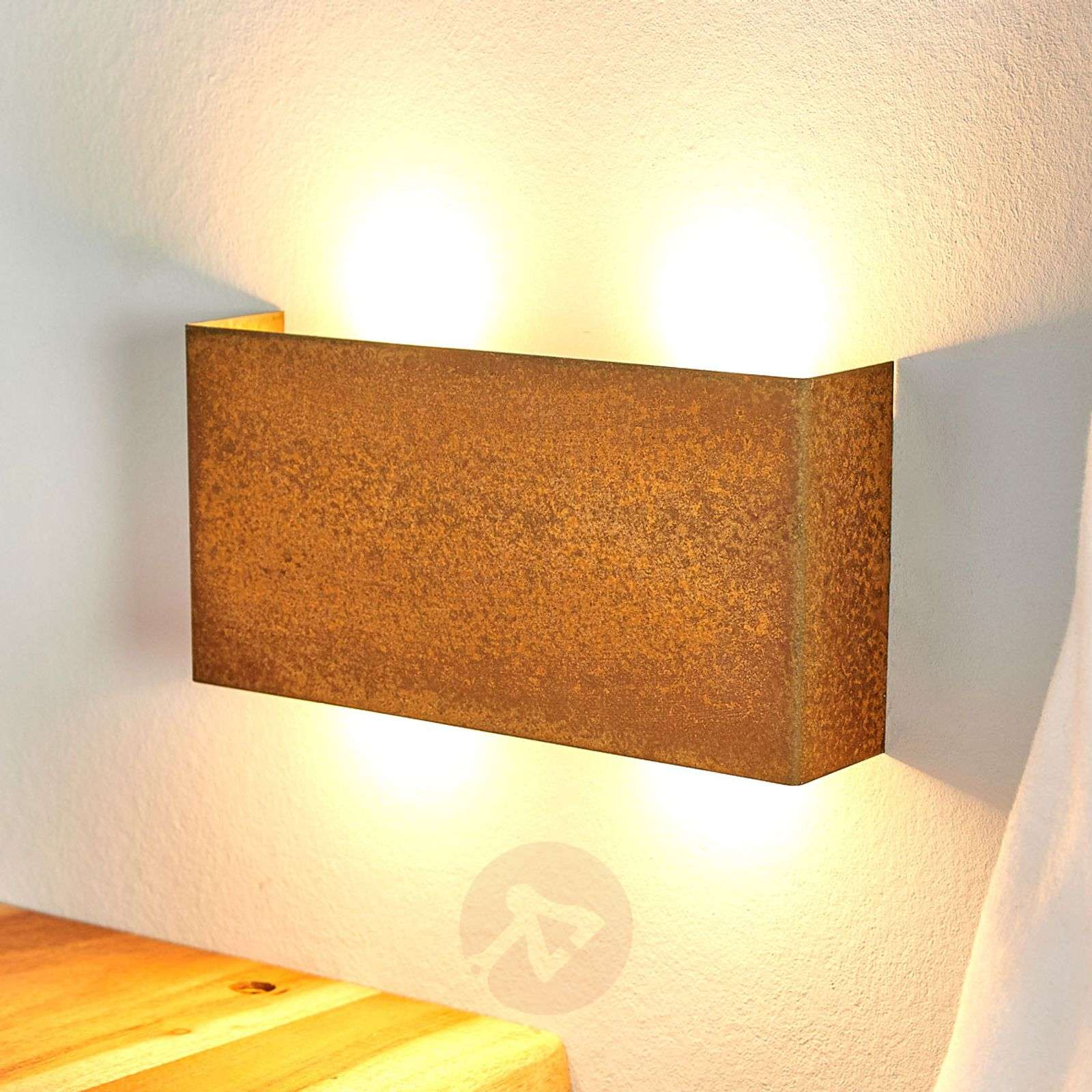 Dimmable led wall lamp maja in a rust look lights dimmable led wall lamp maja in a rust look 6722436 01 aloadofball Image collections