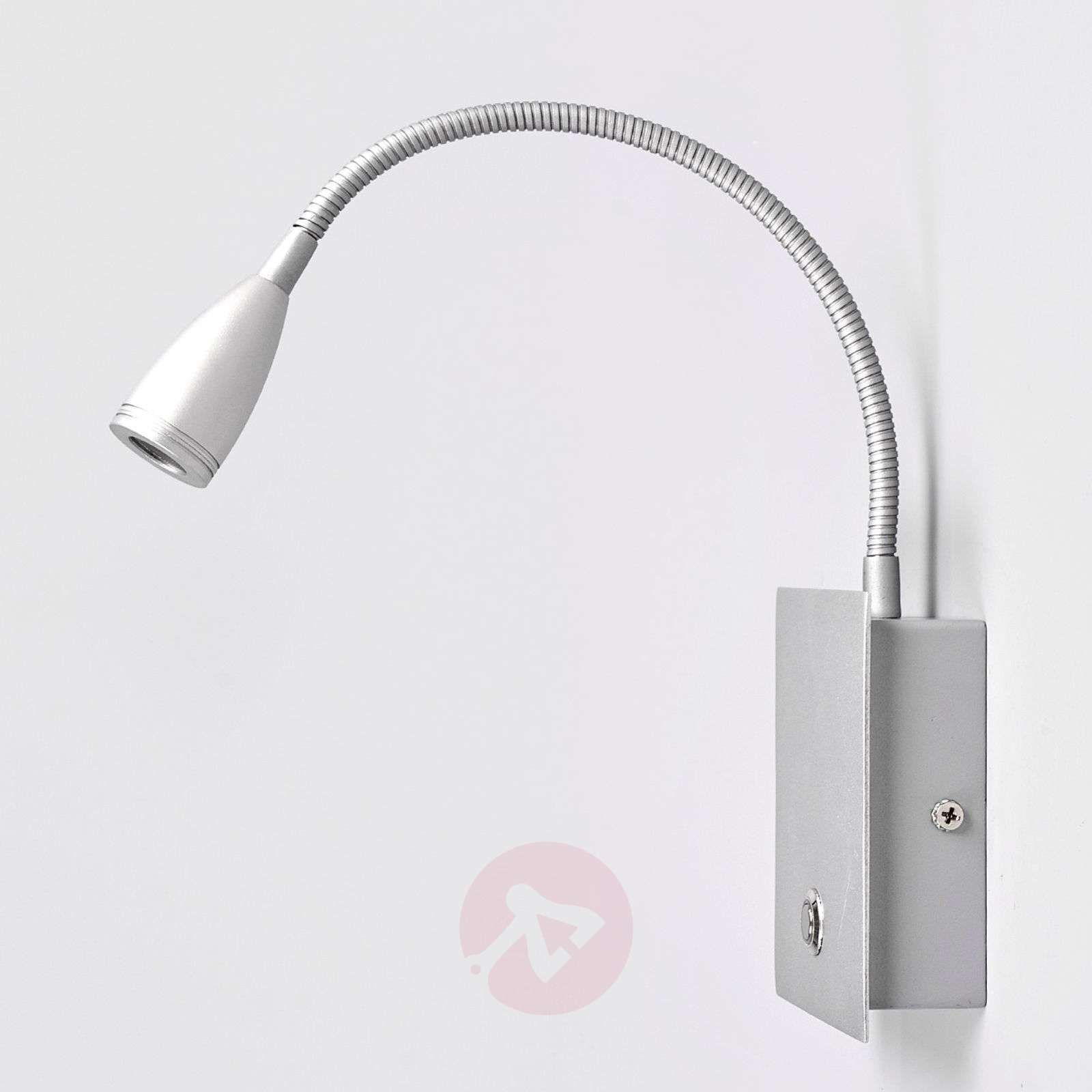 Dimmable LED wall light Torin in silver grey-9976005-01