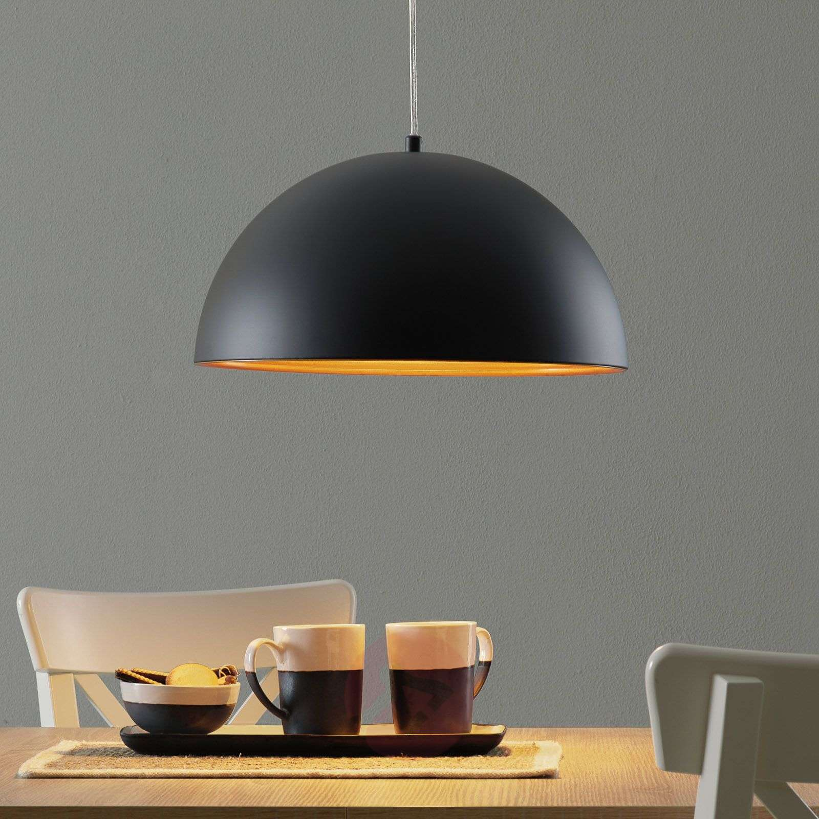 Dingle Two-Tone Hanging Light Black Gold-3502449-01