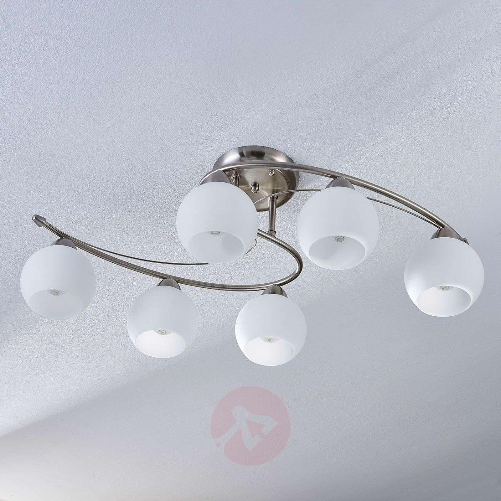 Dining room ceiling light Svean, 6 bulbs-9620766-04