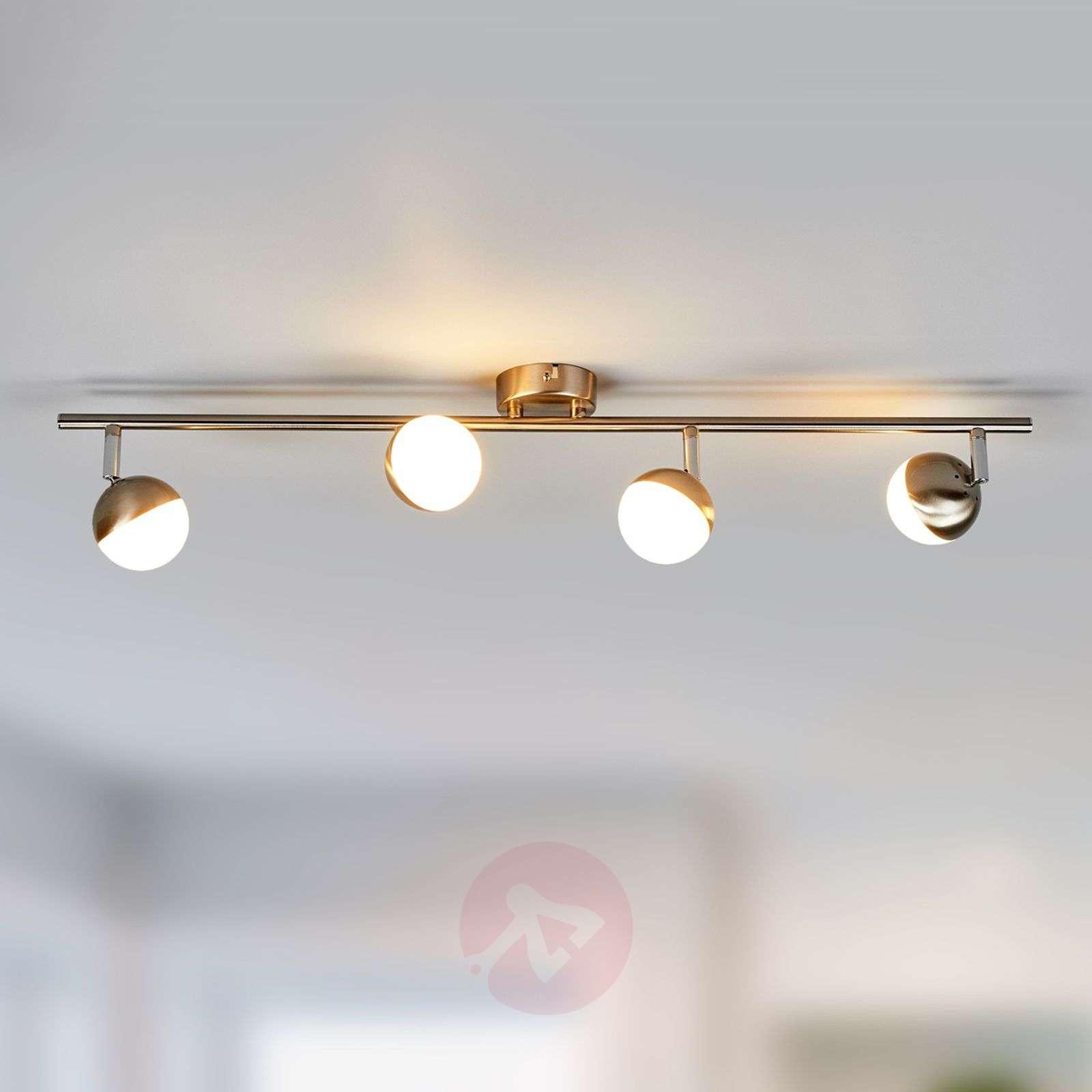 Discreet LED ceiling lamp Jonne, matt nickel-9987058-04